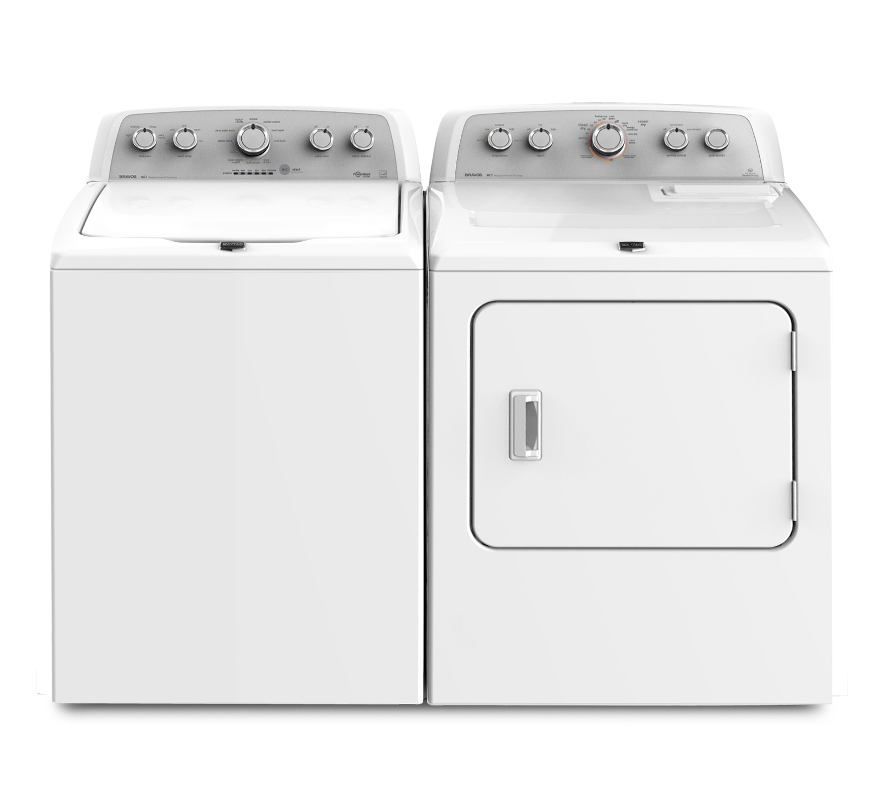 Maytag 3.8 cu. ft. Bravos X™ Top-Load Washer w/ Power Wash® System - White