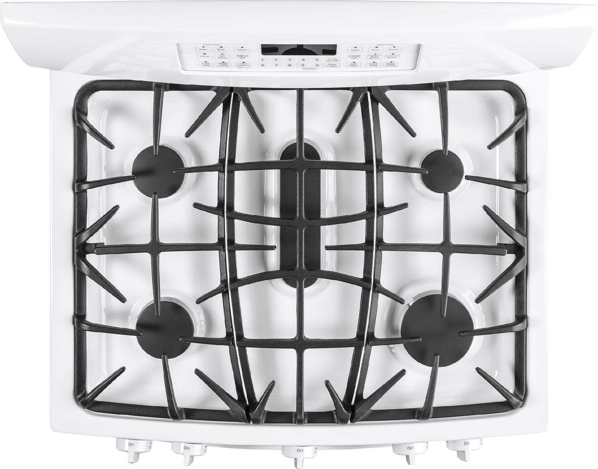 GE Appliances 6.8 cu. ft. Gas Range w/ Double Oven, Convection - White