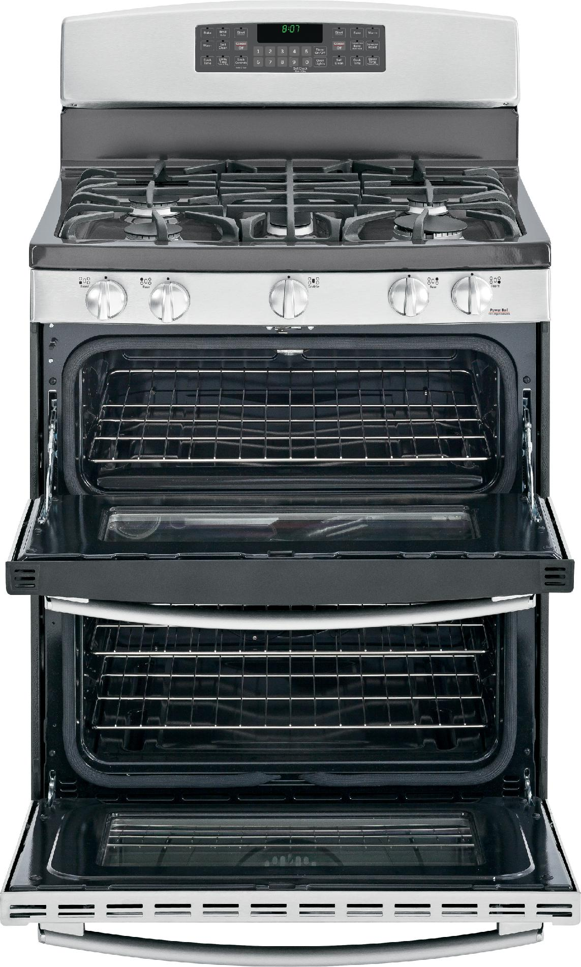 GE Appliances 6.8 cu. ft. Gas Range w/ Double Oven  Convection - Stainless
