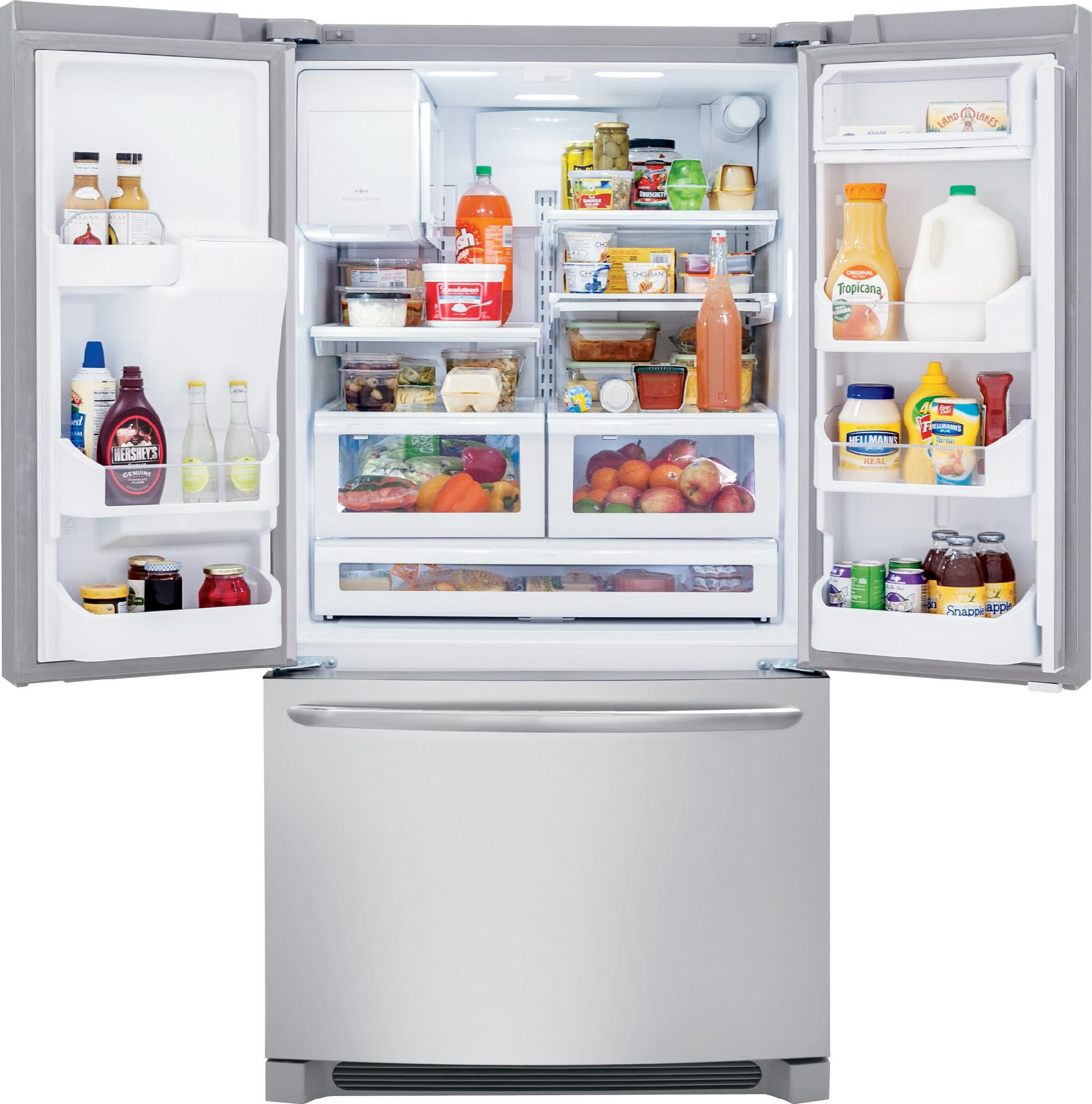 Frigidaire Gallery FGHF2366PF 22.6 cu. ft. Counter-Depth French Door Refrigerator - Stainless Steel