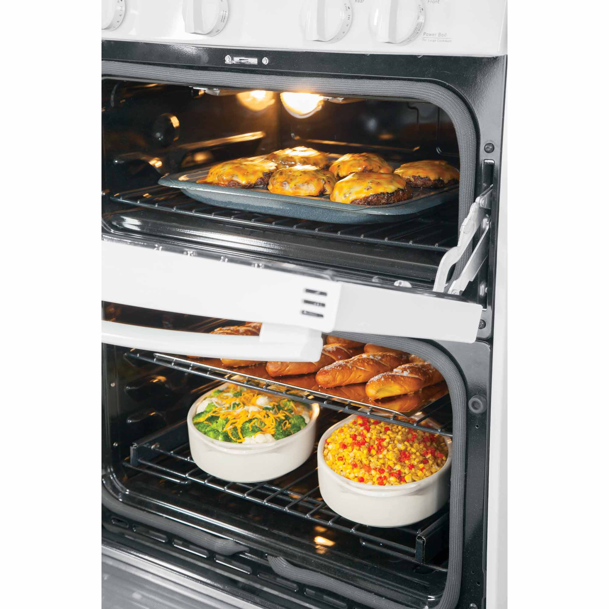 GE Profile 6.8 cu. ft. Double-Oven Gas Range w/ Convection - White