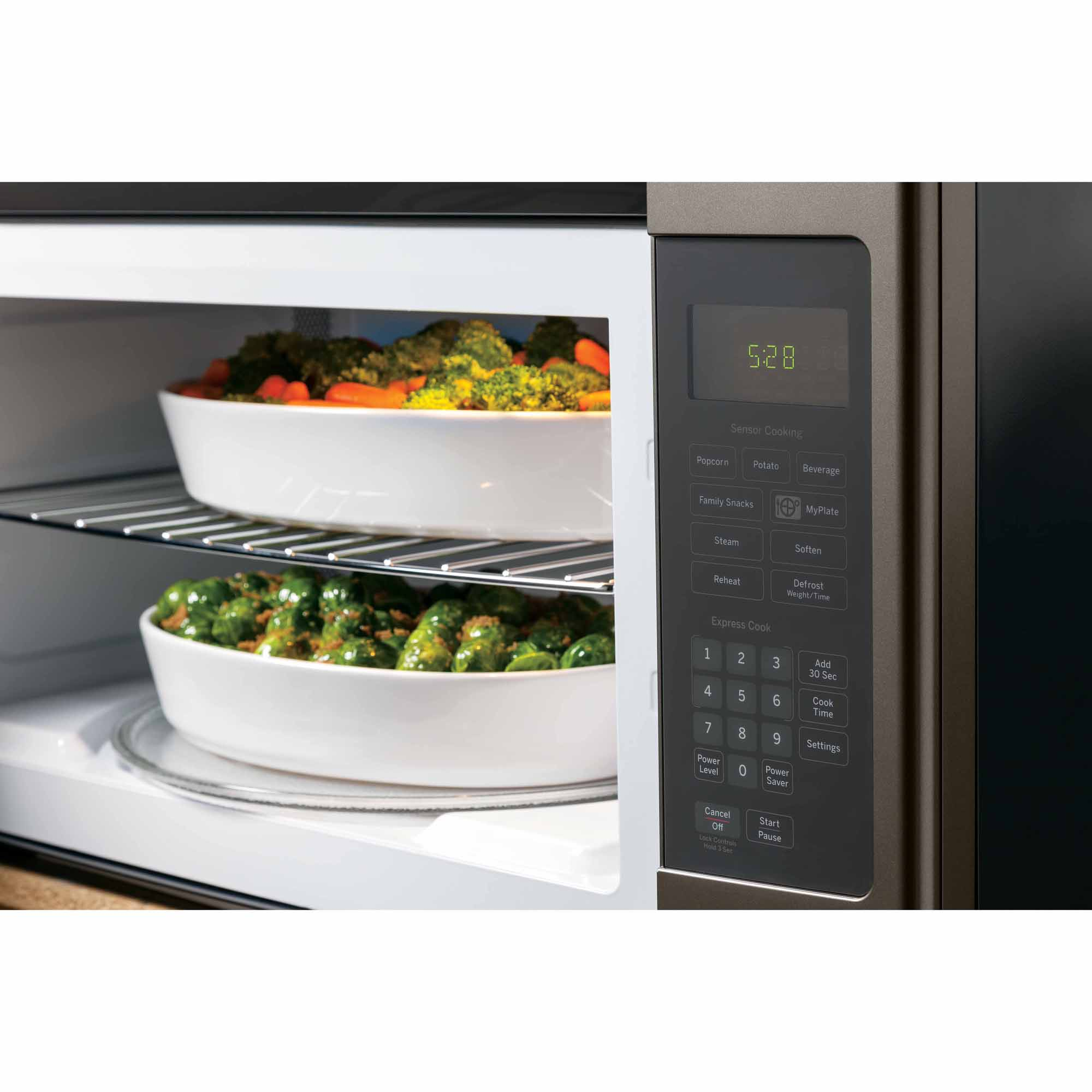 GE 1.9 cu. ft. Over-the-Range Sensor Microwave Oven - Metallic