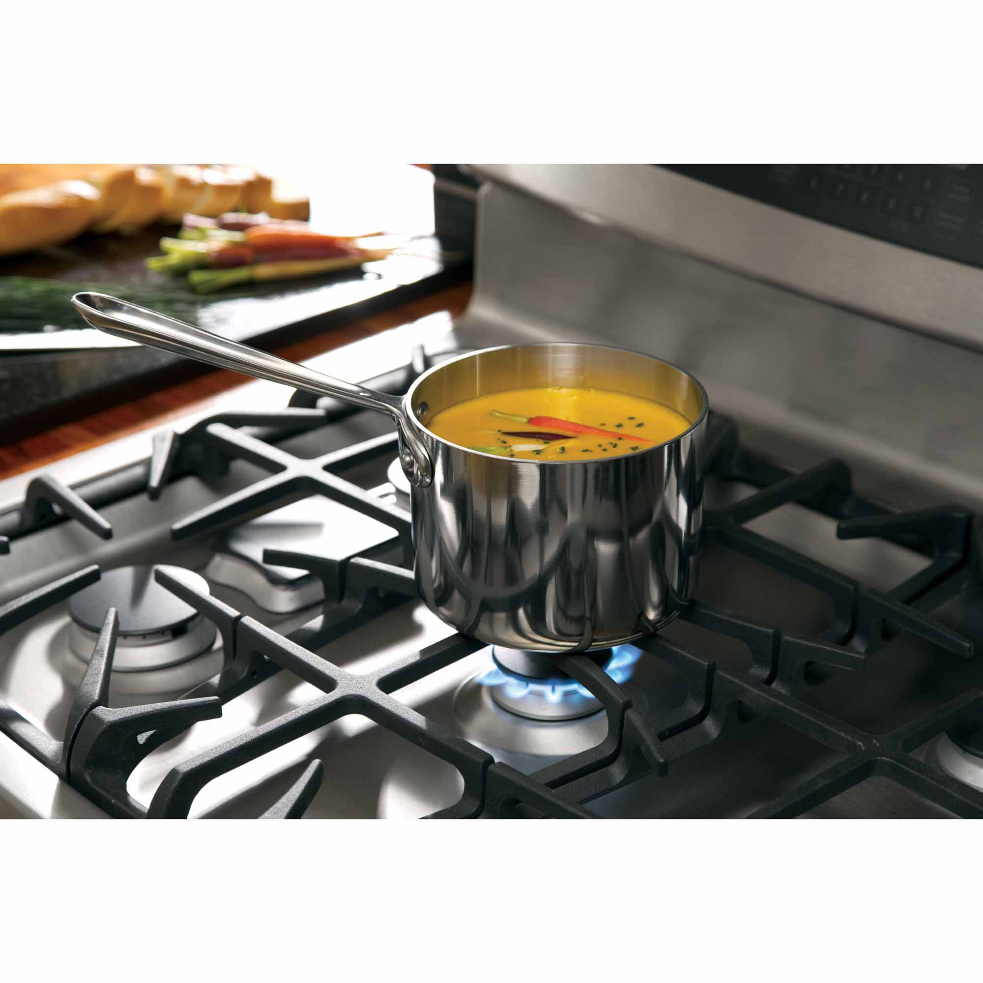 GE Profile 5.6 cu. ft. Gas Range w/ Self-Clean and Warming Drawer - Stainless-Steel