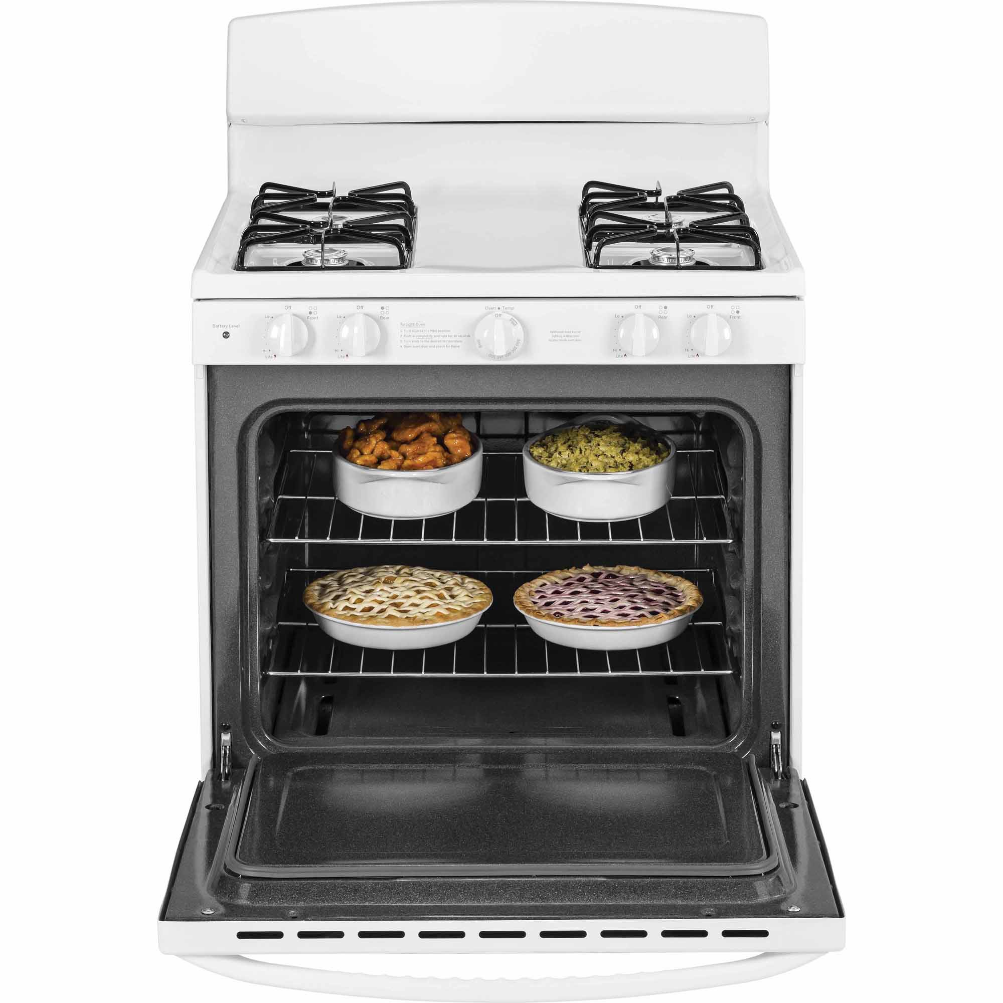 GE 4.8 cu. ft. Gas Range w/ Cordless Battery Ignition - White