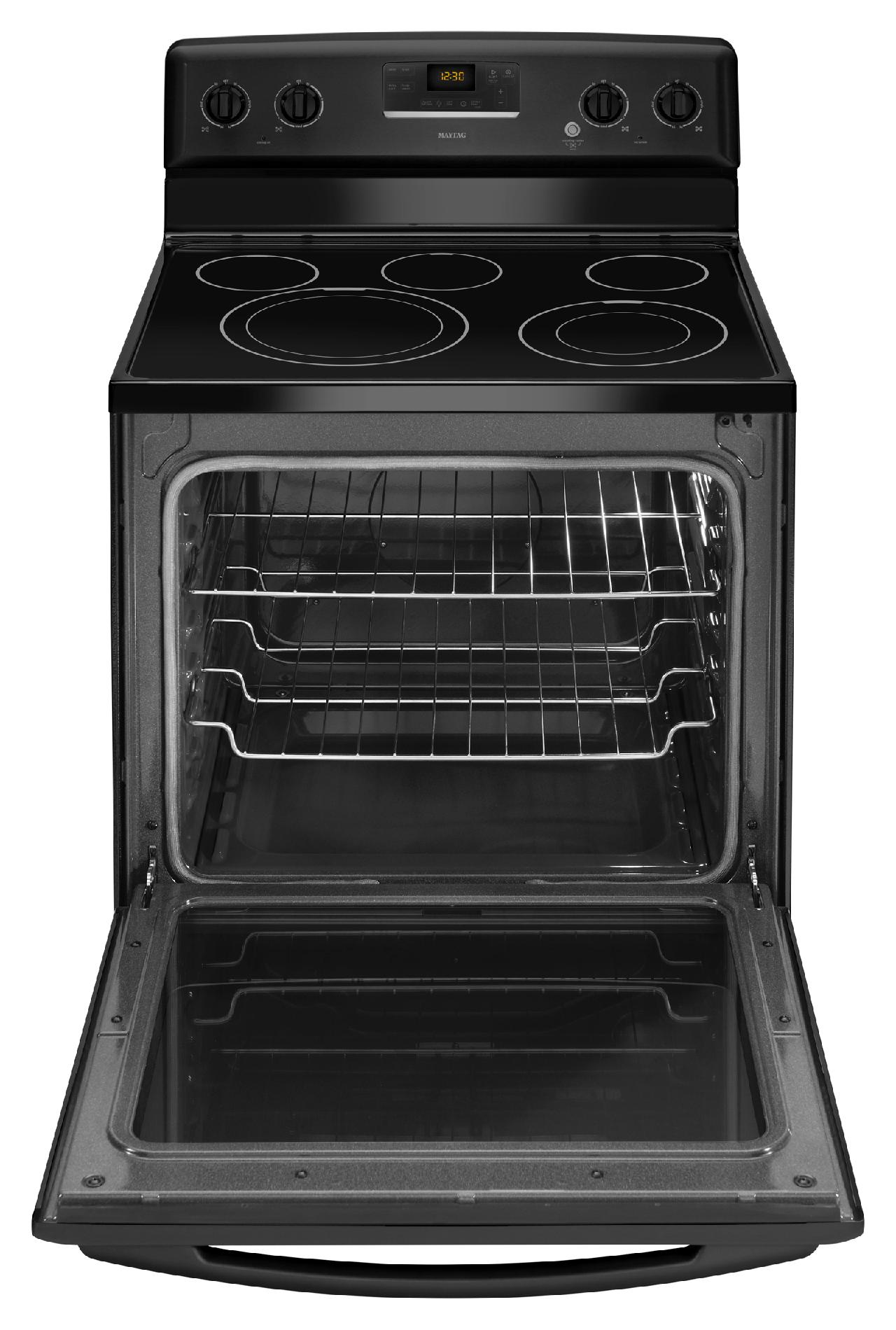 "Maytag 30"" Electric Range w/ Aqua-Lift® Self-Clean Technology - Black"