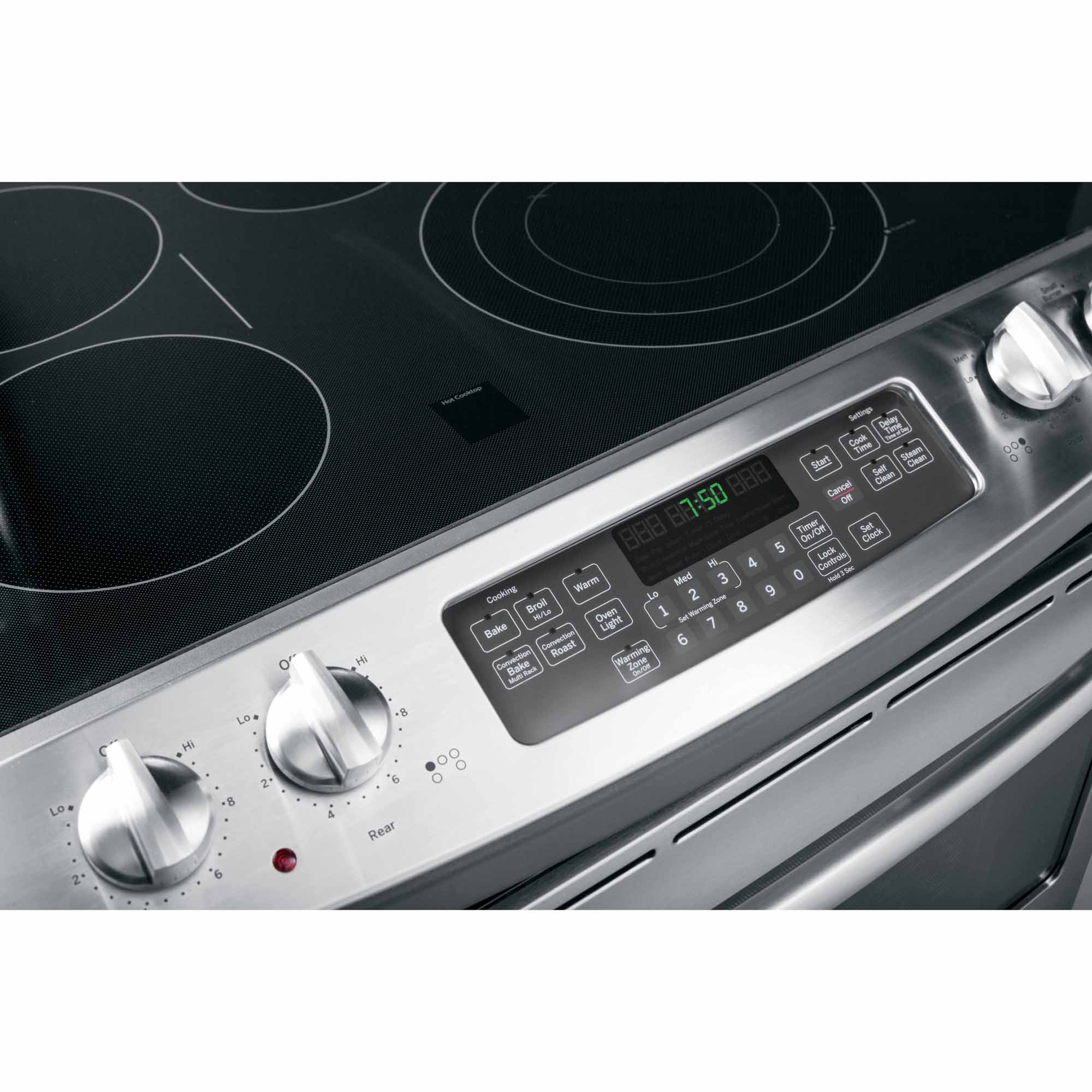 """GE Appliances JD750SFSS 30"""" Drop-In Electric Range w/ Convection - Stainless Steel"""