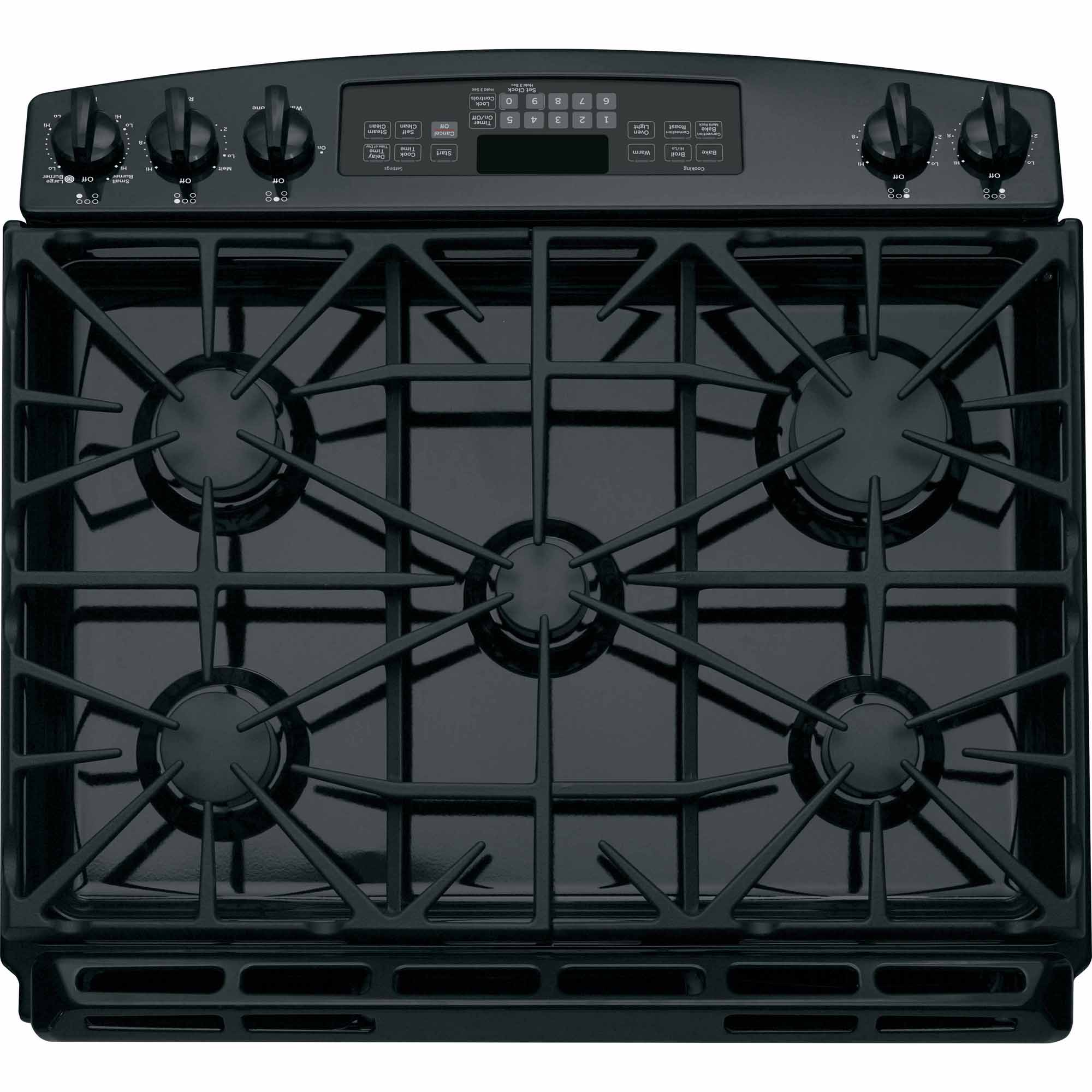 GE Appliances JGS750DEFBB 5.6 cu. ft. Slide-In Gas Range - Black