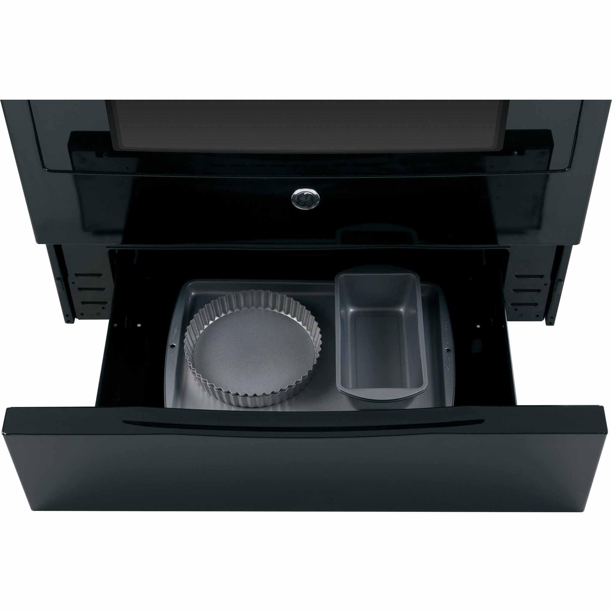 """GE Appliances JGS650DEFBB 30"""" Slide-In Gas Range - Black"""