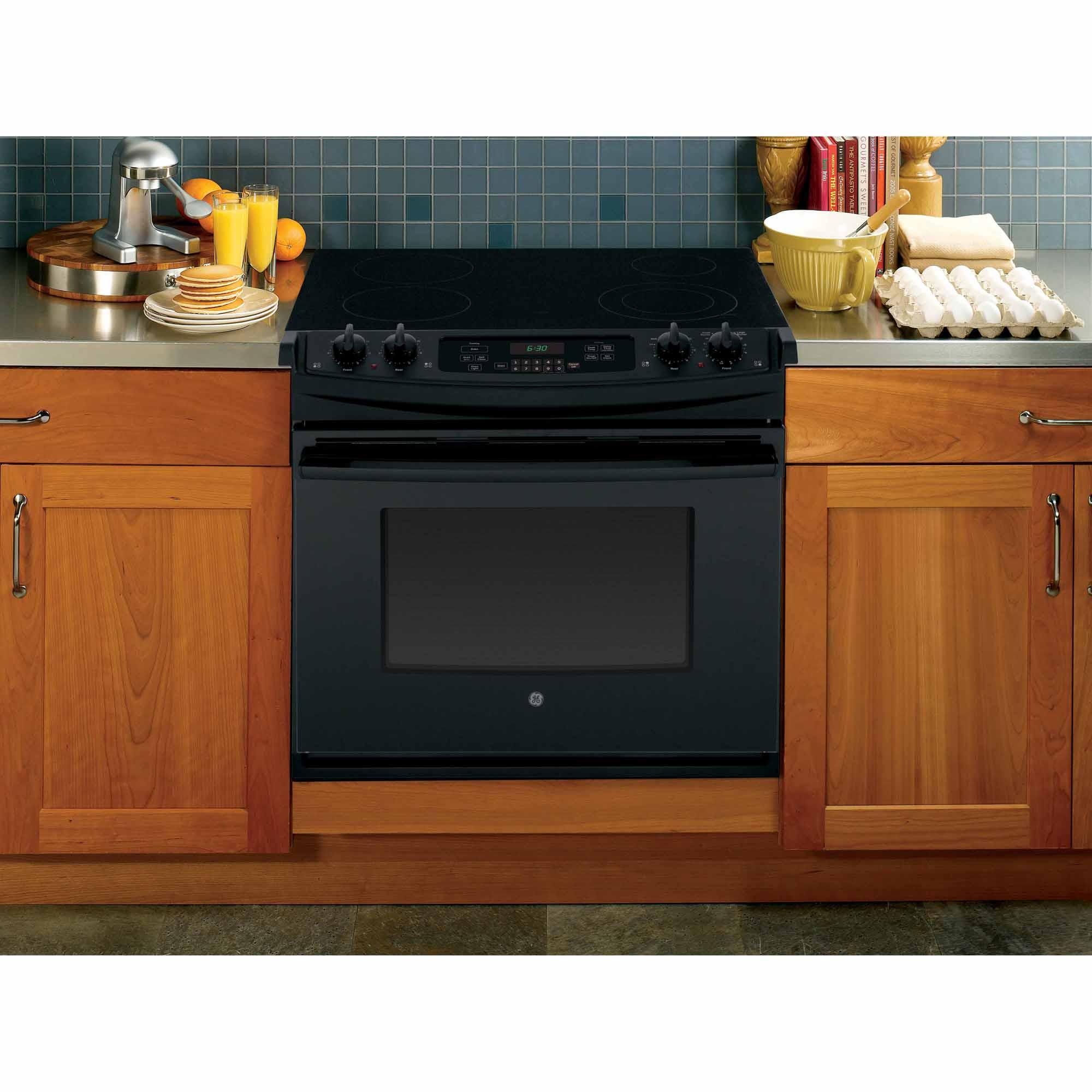 "GE Appliances JD630DFBB 30"" Drop-In Electric Range - Black"