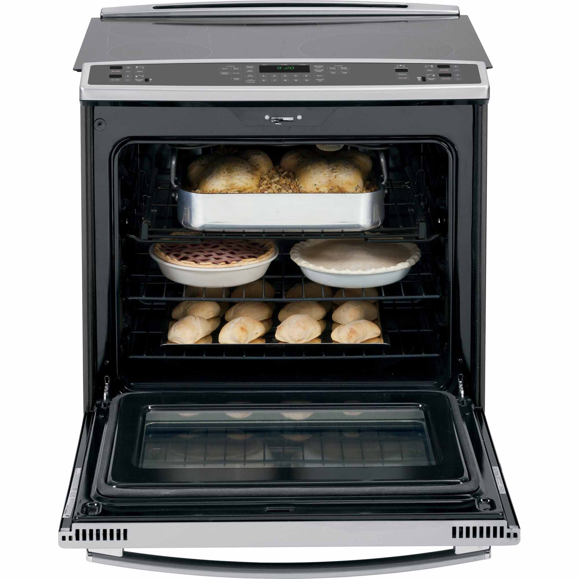 GE Profile PS920SFSS 5.3 cu. ft. Slide-In Electric Range w/ True Convection - Stainless Steel