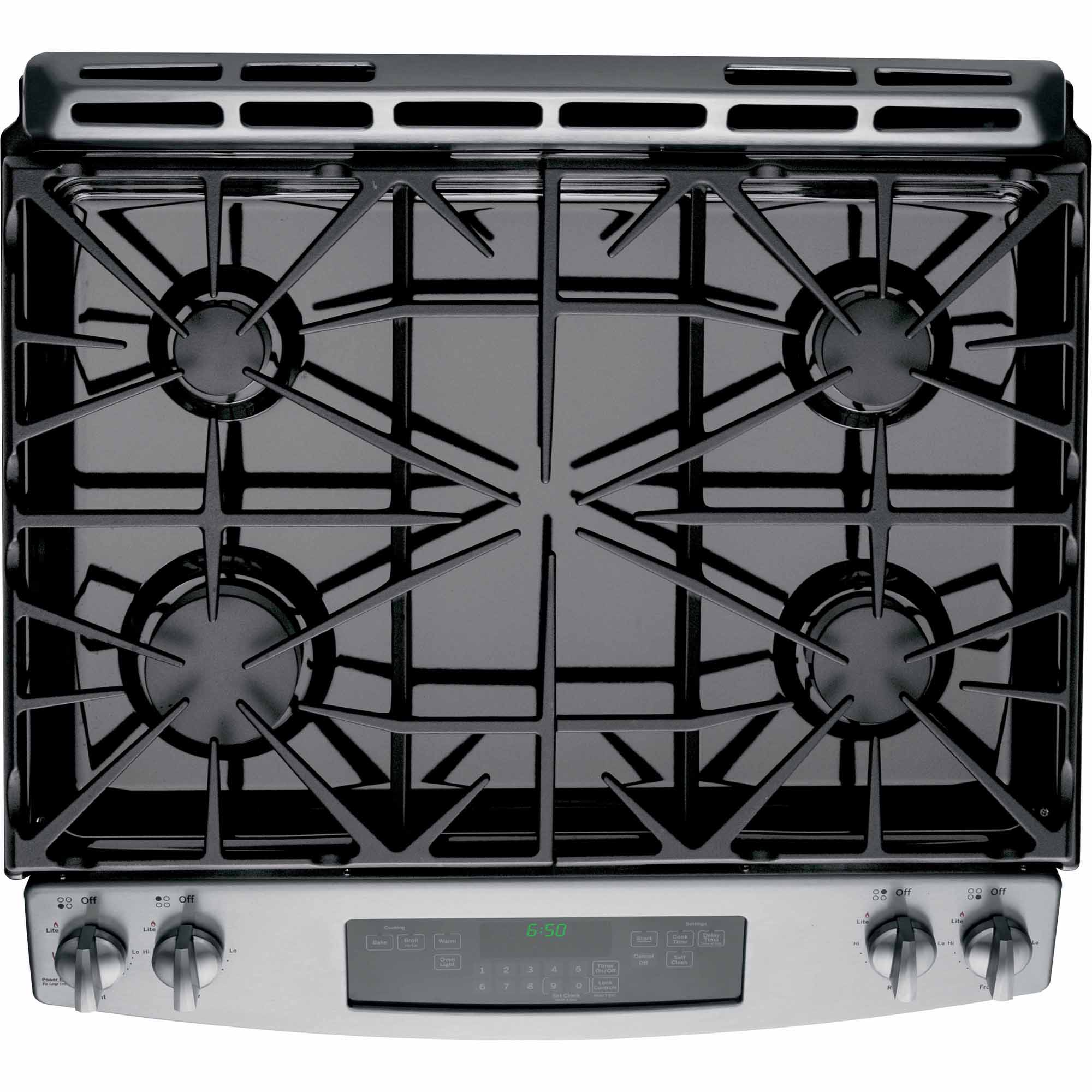 "GE Appliances JGS650SEFSS 30"" Slide-In Gas Range - Stainless Steel"