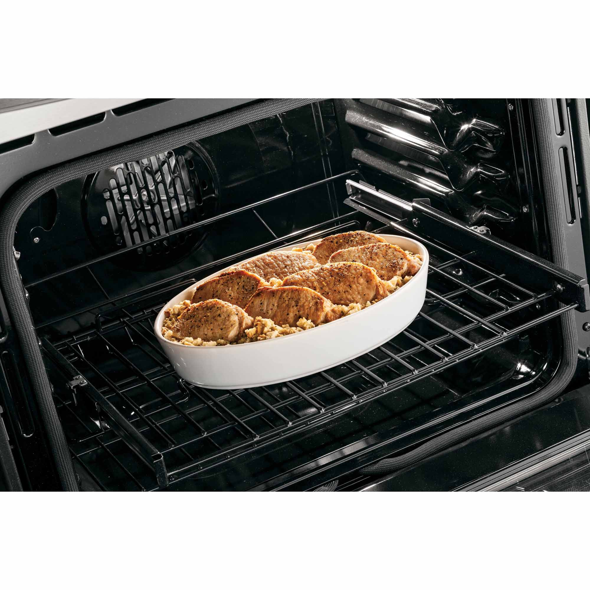 GE Profile P2S920SEFSS 5.9 cu. ft. Dual-Fuel Slide-In Range w/ Warming Drawer - Stainless Steel