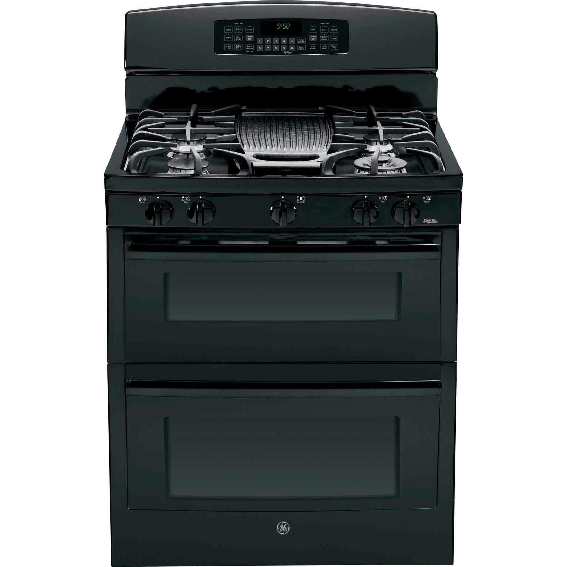 GE Profile 6.8 cu. ft. Double-Oven Gas Range w/ Convection - Black