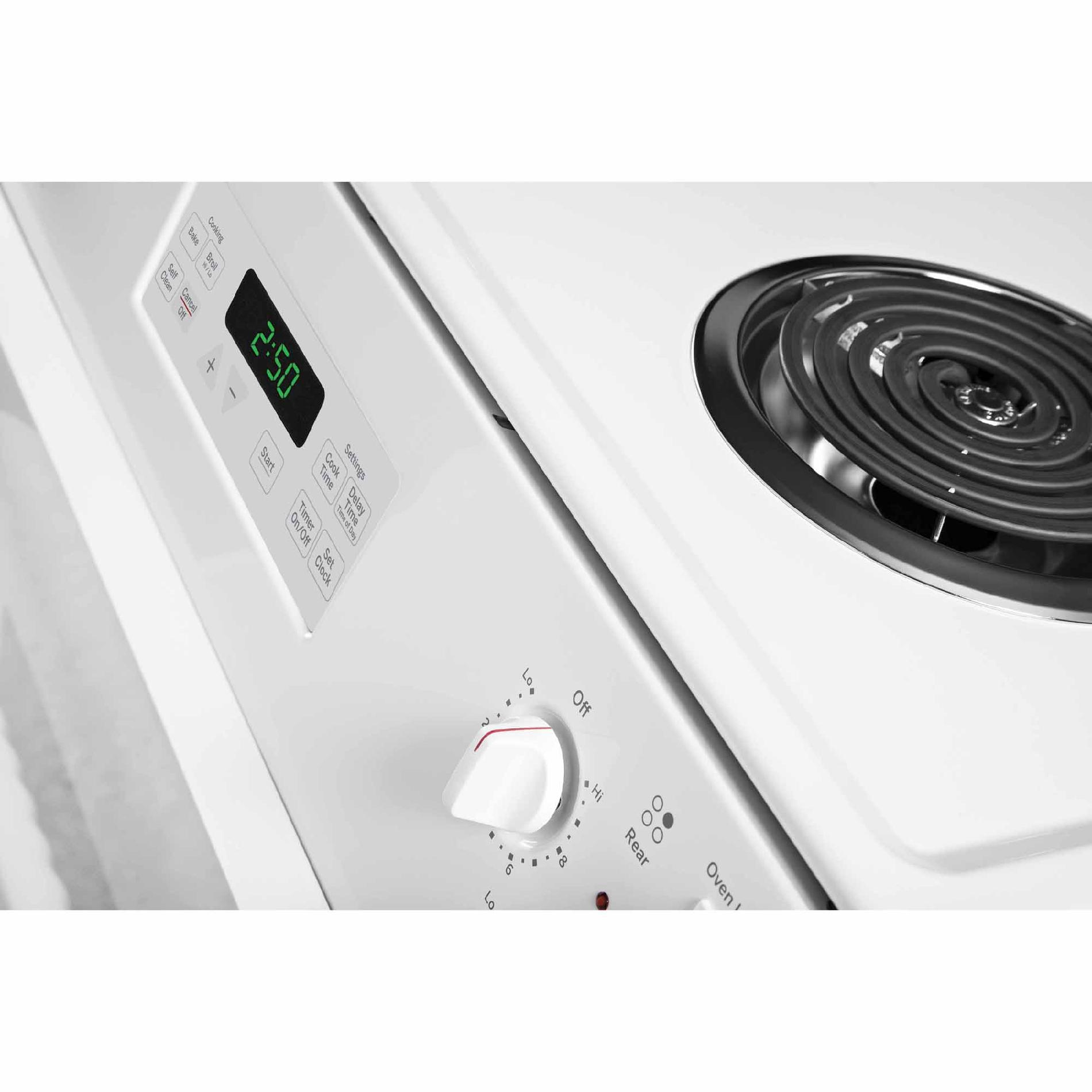 "GE Appliances JM250DFWW 27"" Drop-In Electric Range - White"