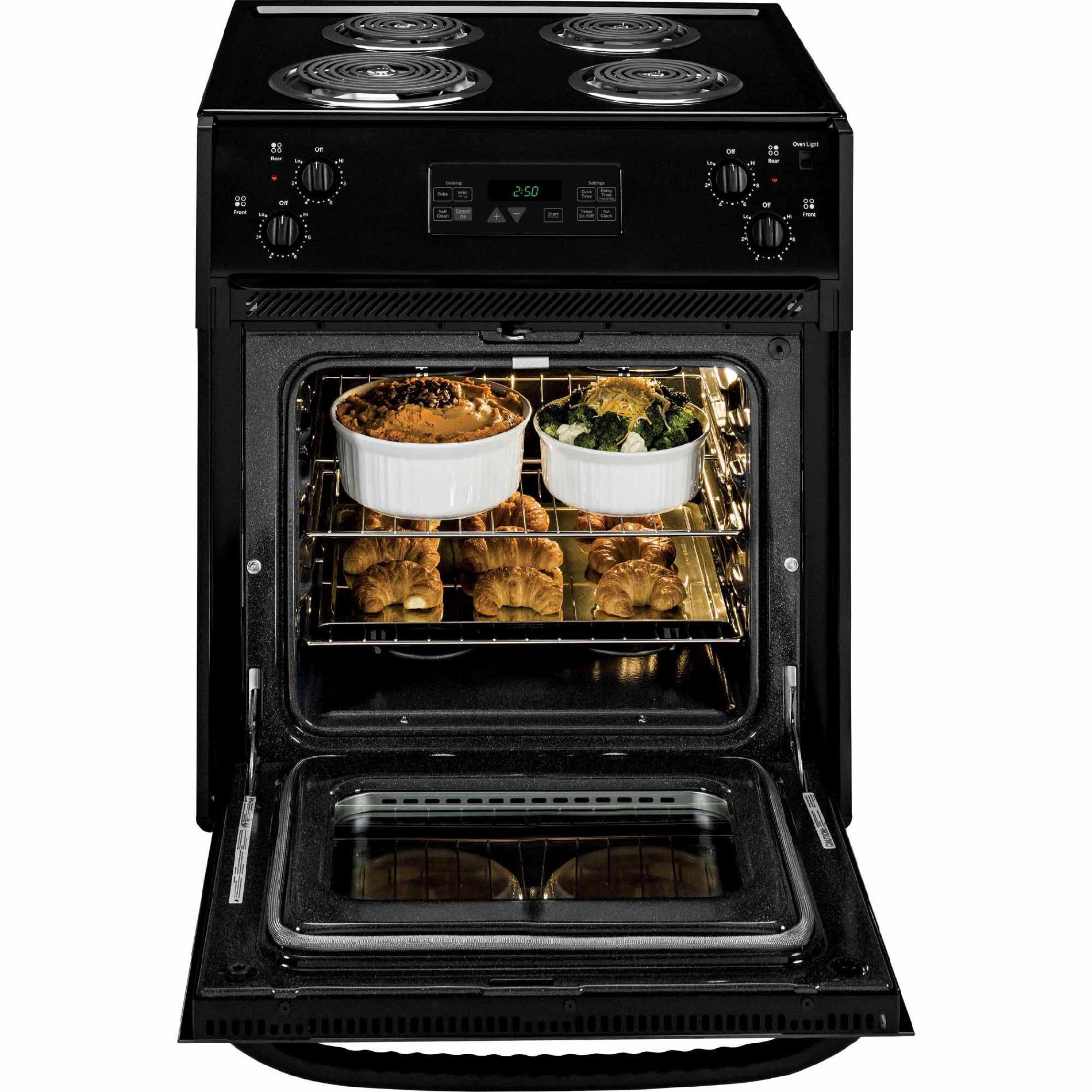 "GE Appliances JM250DFBB 27"" Drop-In Electric Range - Black"