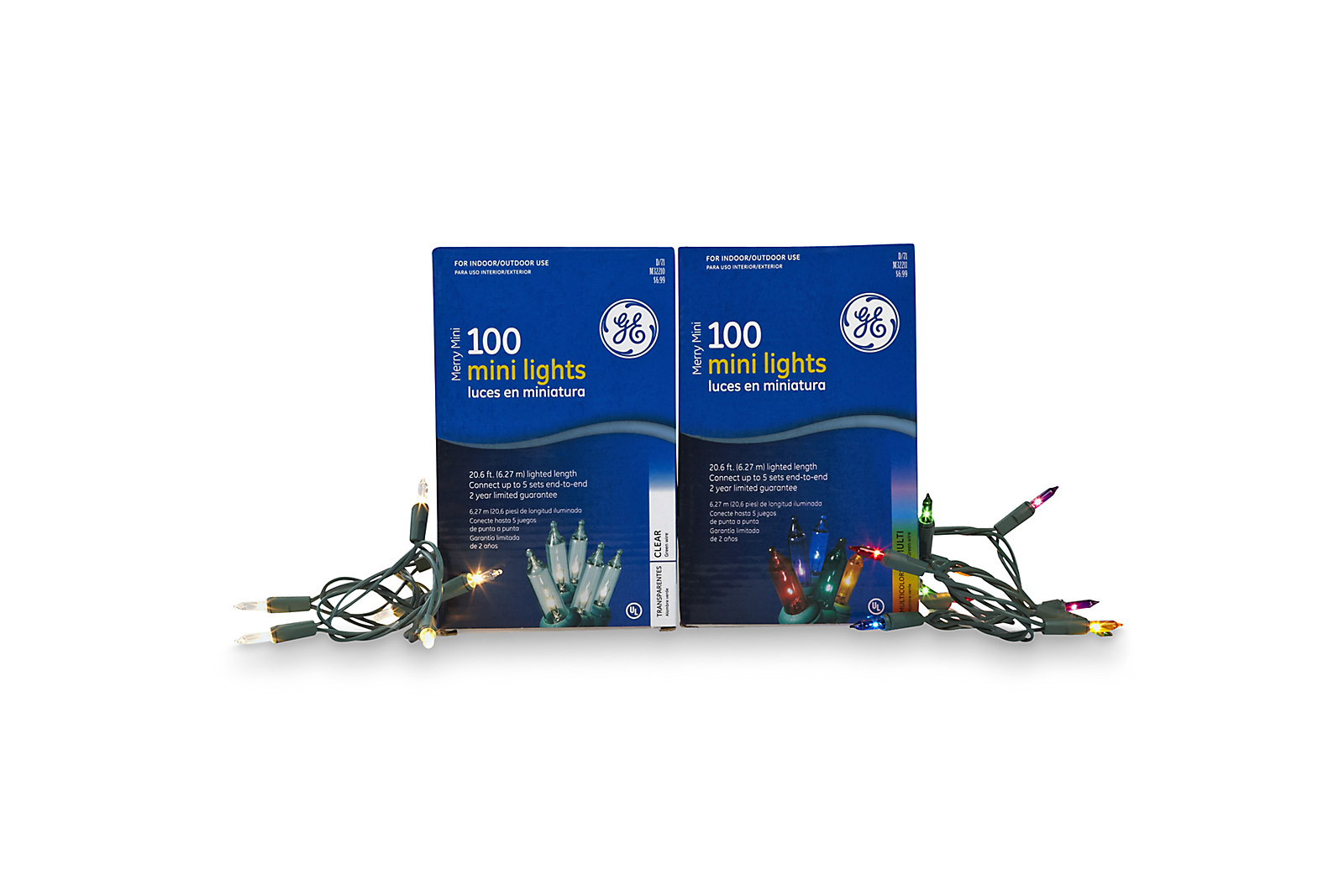 General Electric 100ct Merry Mini Christmas Light Set - Multi-Colored