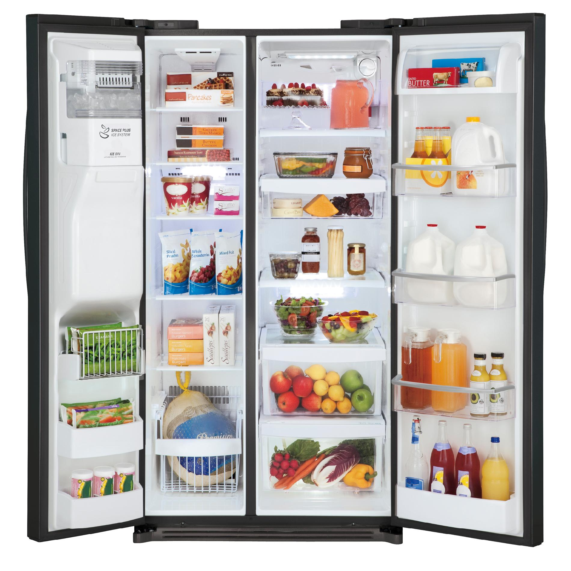 LG 27 cu.ft. Side-by-Side Refrigerator w/ Slim SpacePlus™ Ice System – Black