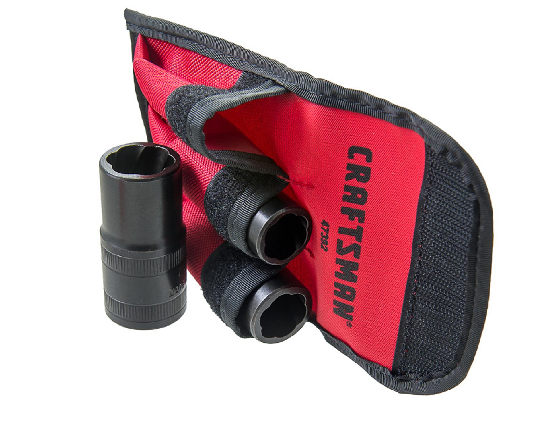 Craftsman 3 pc. Flip Socket Set with Red Pouch