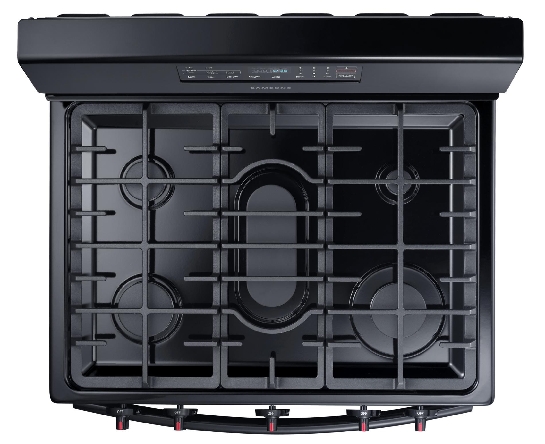 Samsung 5.8 cu. ft. Gas Range w/ Griddle - Black