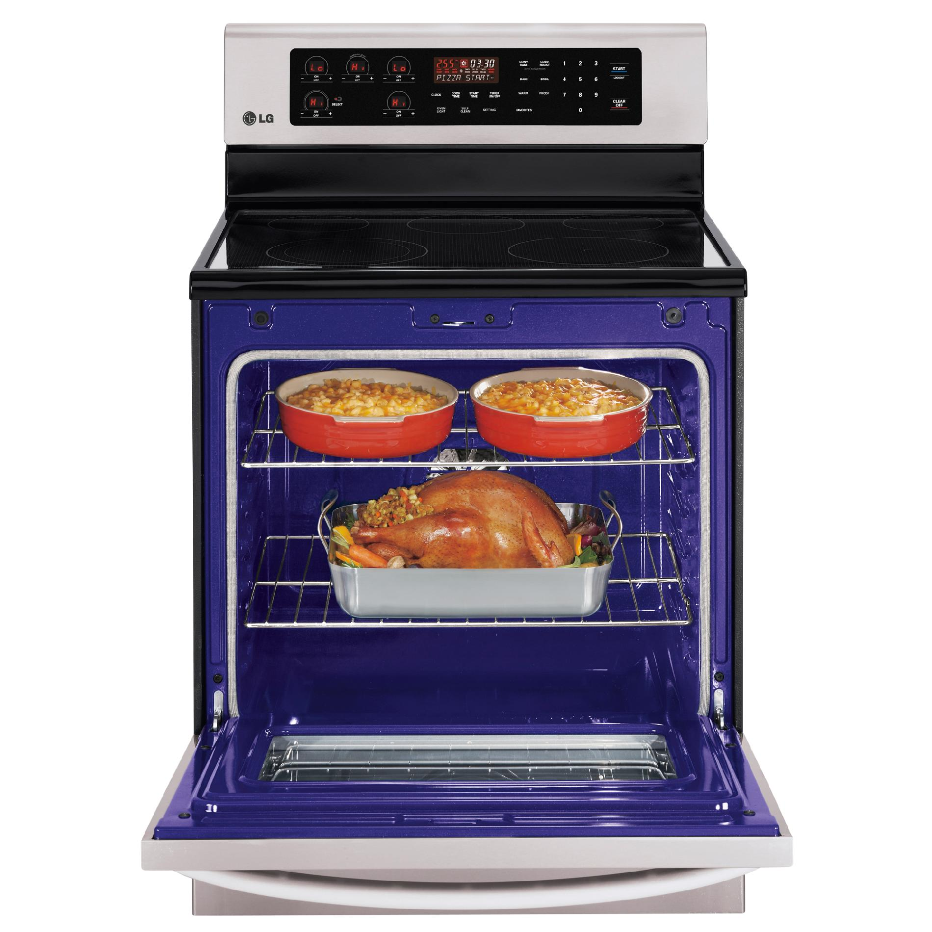 LG LRE3083ST 6.3 cu. ft. Free-Standing Electric Range - Stainless Steel