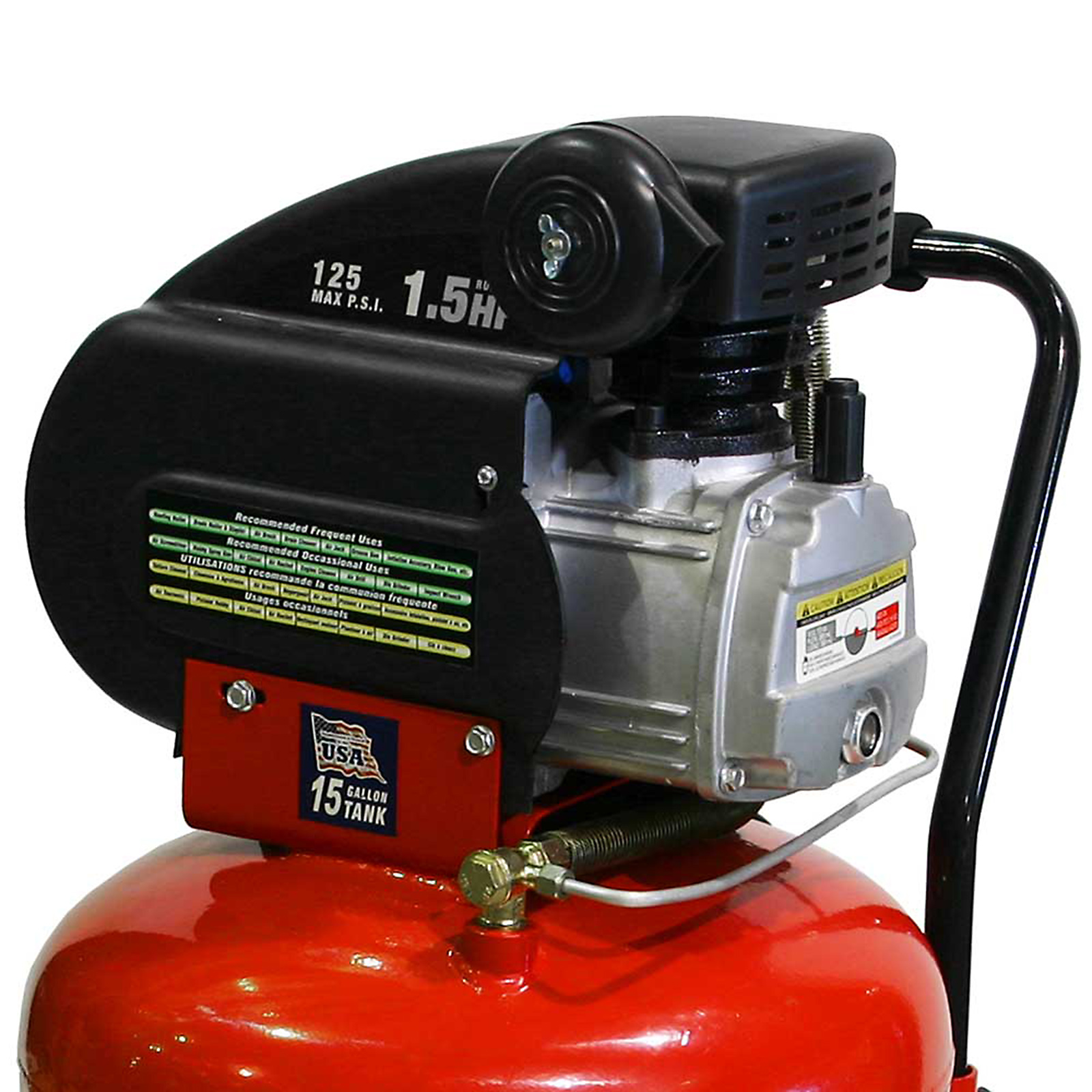 SPEEDWAY Start to Finish™ 1.5HP 15 Gallon Vertical Air Compressor - 7678
