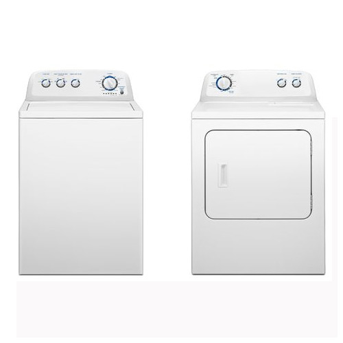 Top-load 3.4 cu. ft. Washer and 7.0 cu. ft. electric Dryer