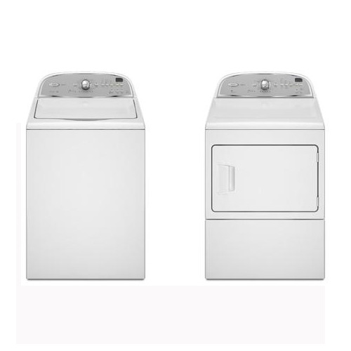 National Brand 3.6 cu. ft. High-Efficiency Top-Load Washer and 7.4 cu. ft. Electric/Gas Dryer