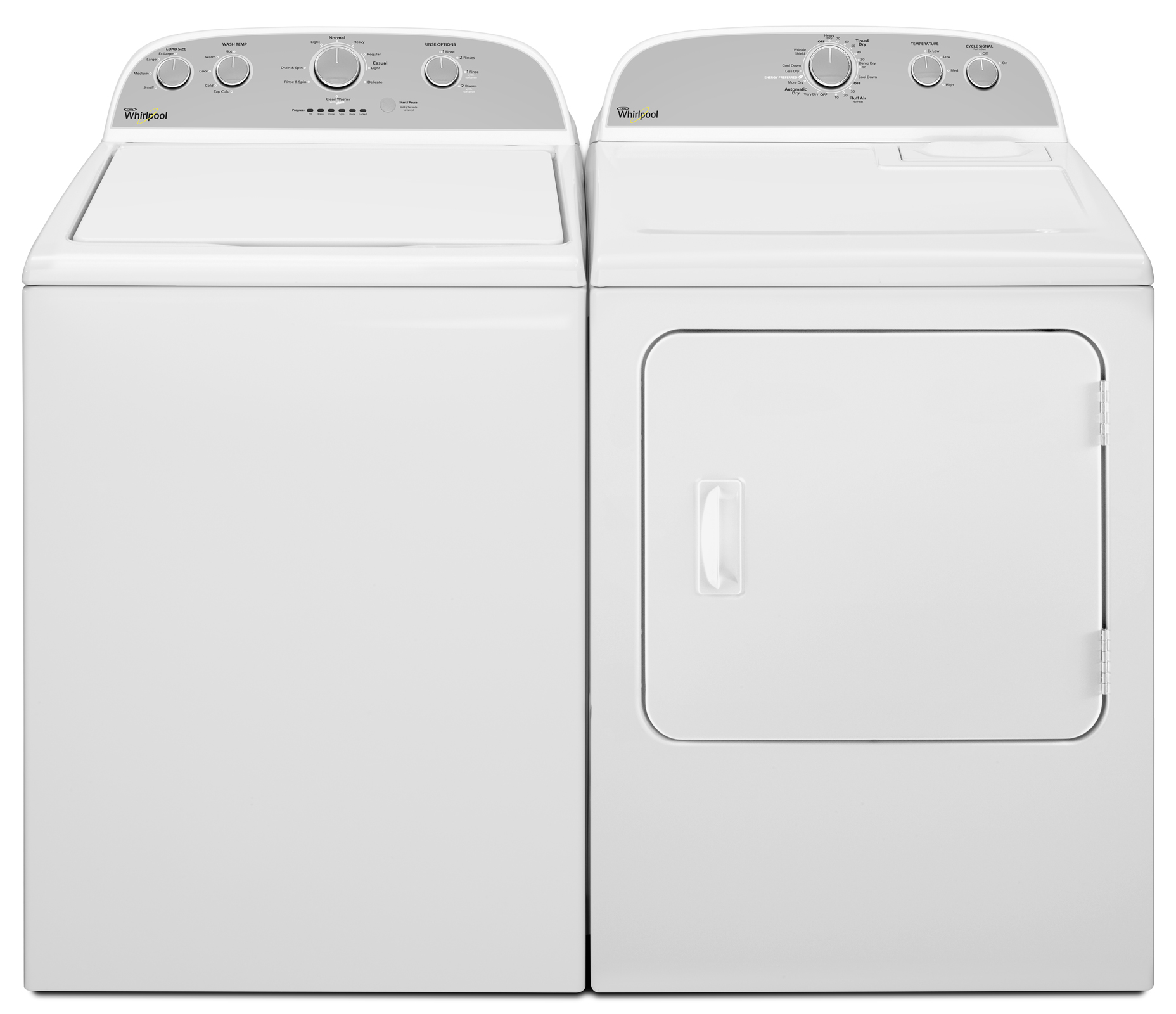 Whirlpool 3.6 cu. ft. Top-Load Washer w/ Care Control Temperature Management - White