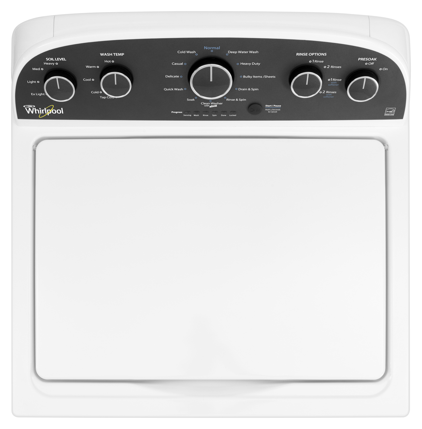 Whirlpool 3.8 cu. ft. HE Top-Load Washer w/ 5 Adaptive Wash Actions - White