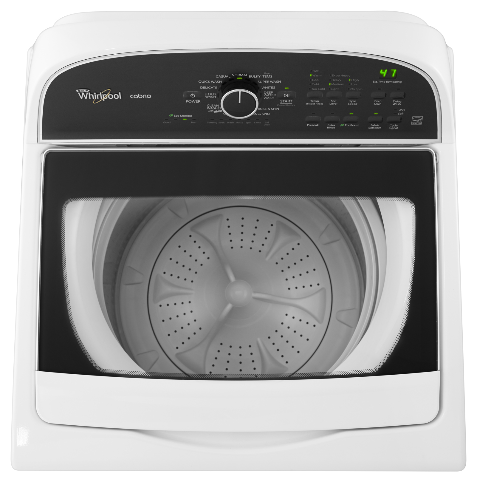 Whirlpool 3.8 cu. ft. HE Top-Load Washer w/ EcoBoost™ Option - White