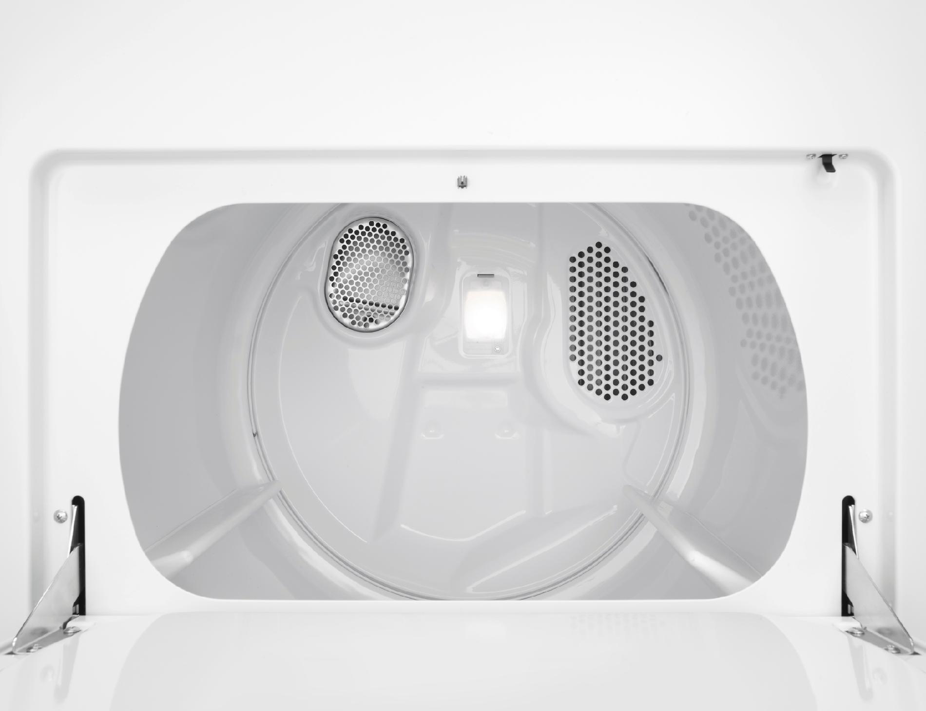 Whirlpool 6.4 cu. ft. Flat Back Electric Dryer w/ Wrinkle Shield™ Option - White
