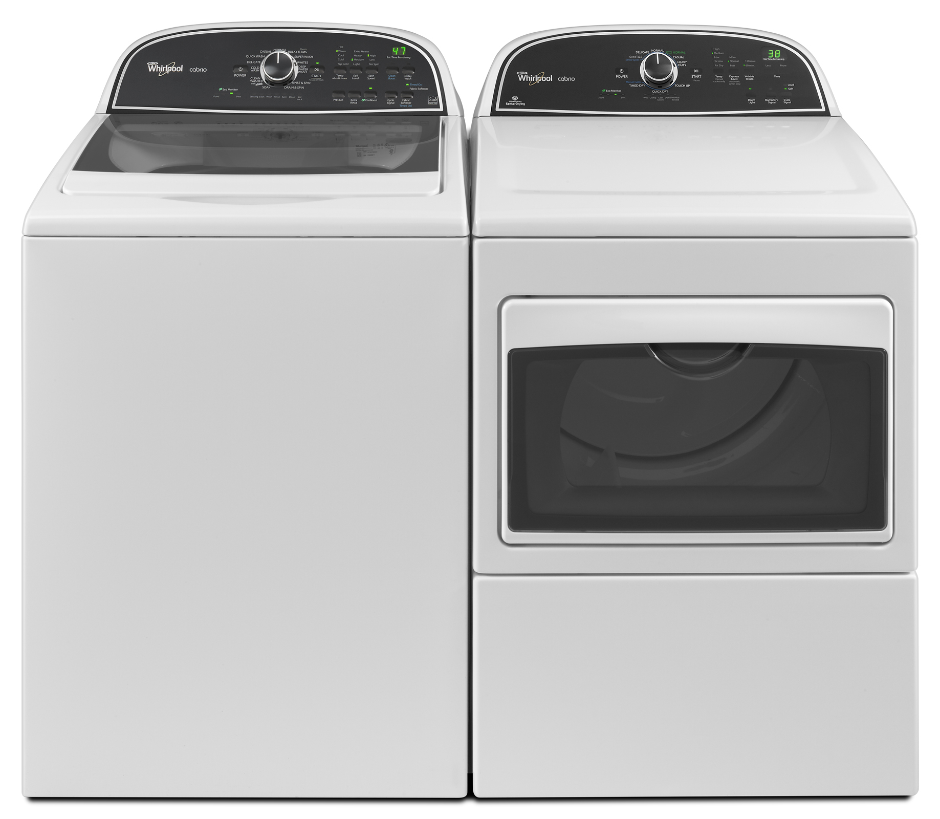 Whirlpool 7.4 cu. ft. Cabrio® Electric Dryer w/ Sanitize Cycle - White