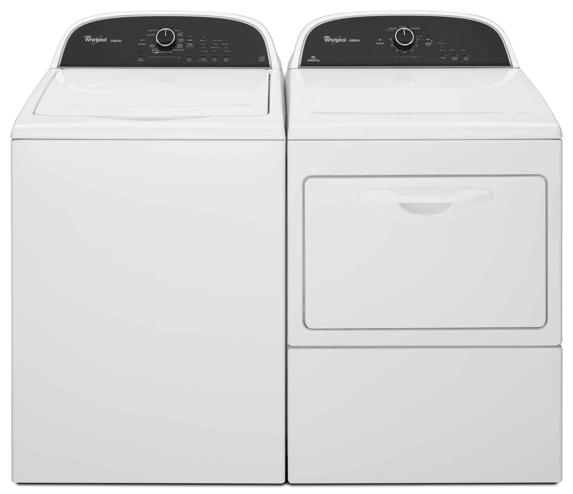 Whirlpool 7.4 cu. ft. Cabrio® Gas Dryer w/ Cycle Status Lights - White