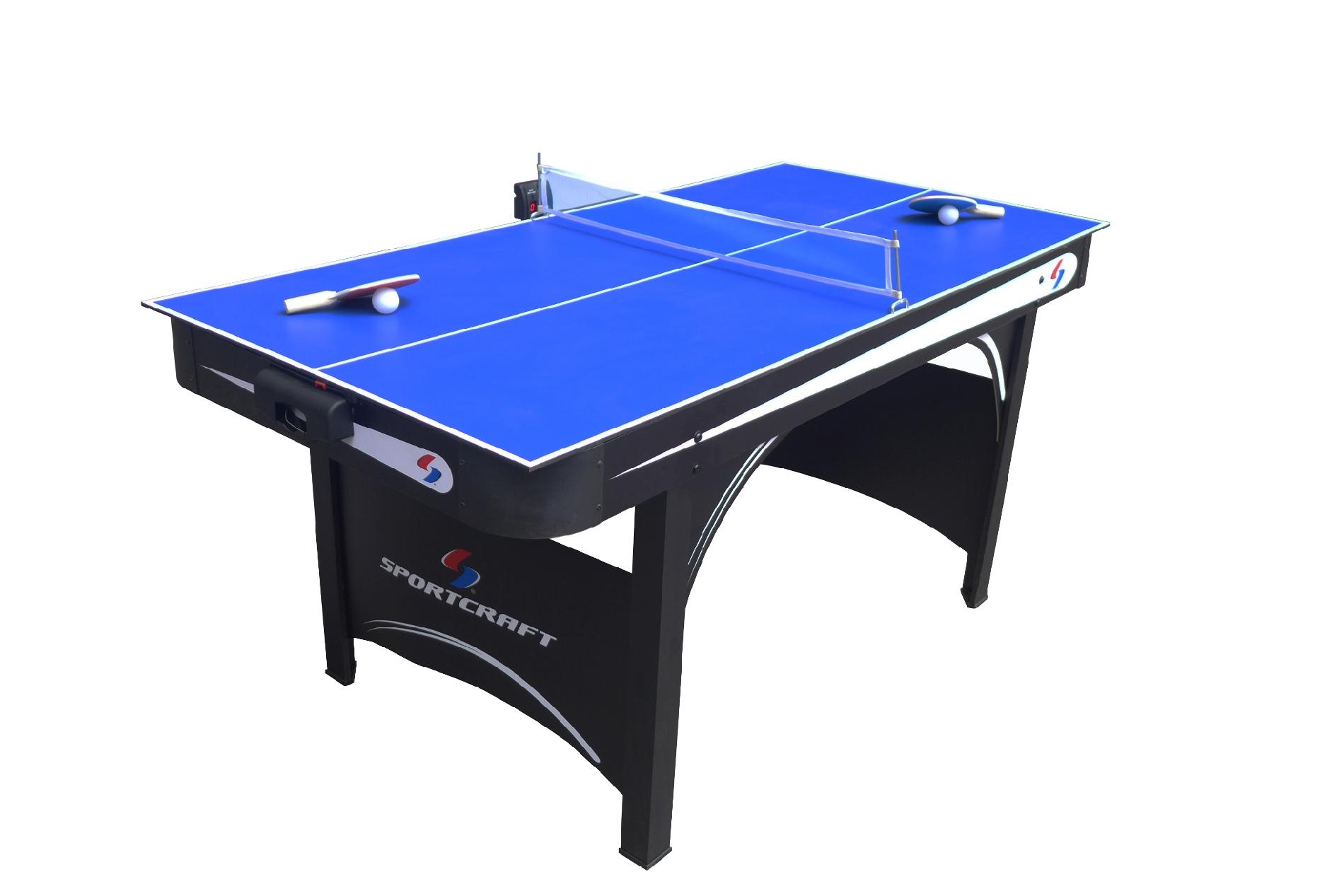 "Sportcraft 66"" Electronic Air Hockey Table with Table Tennis Top"