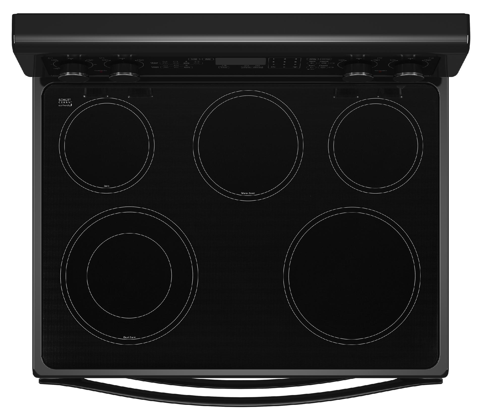 "Whirlpool WGE555S0BB 30"" Electric Range w/ AccuBake® System - Black"