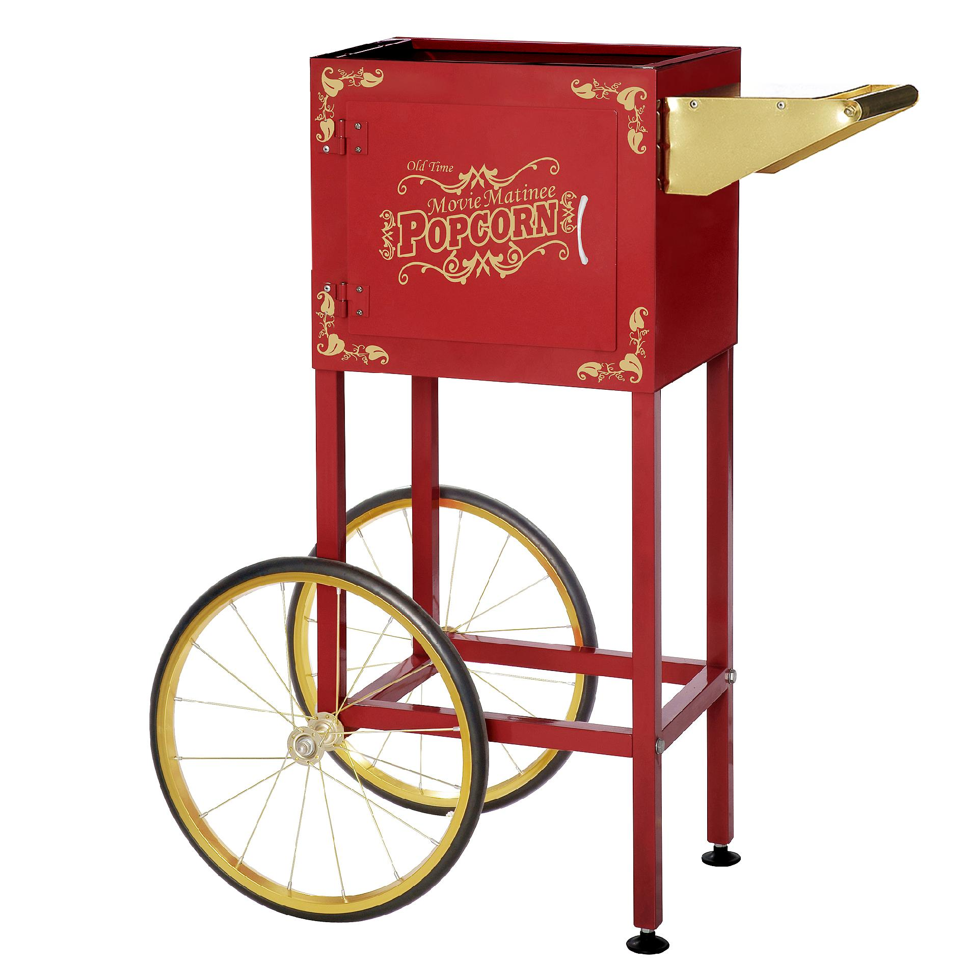 Great Northern Popcorn Red Matinee Movie Eight Ounce Antique Popcorn Machine and Cart