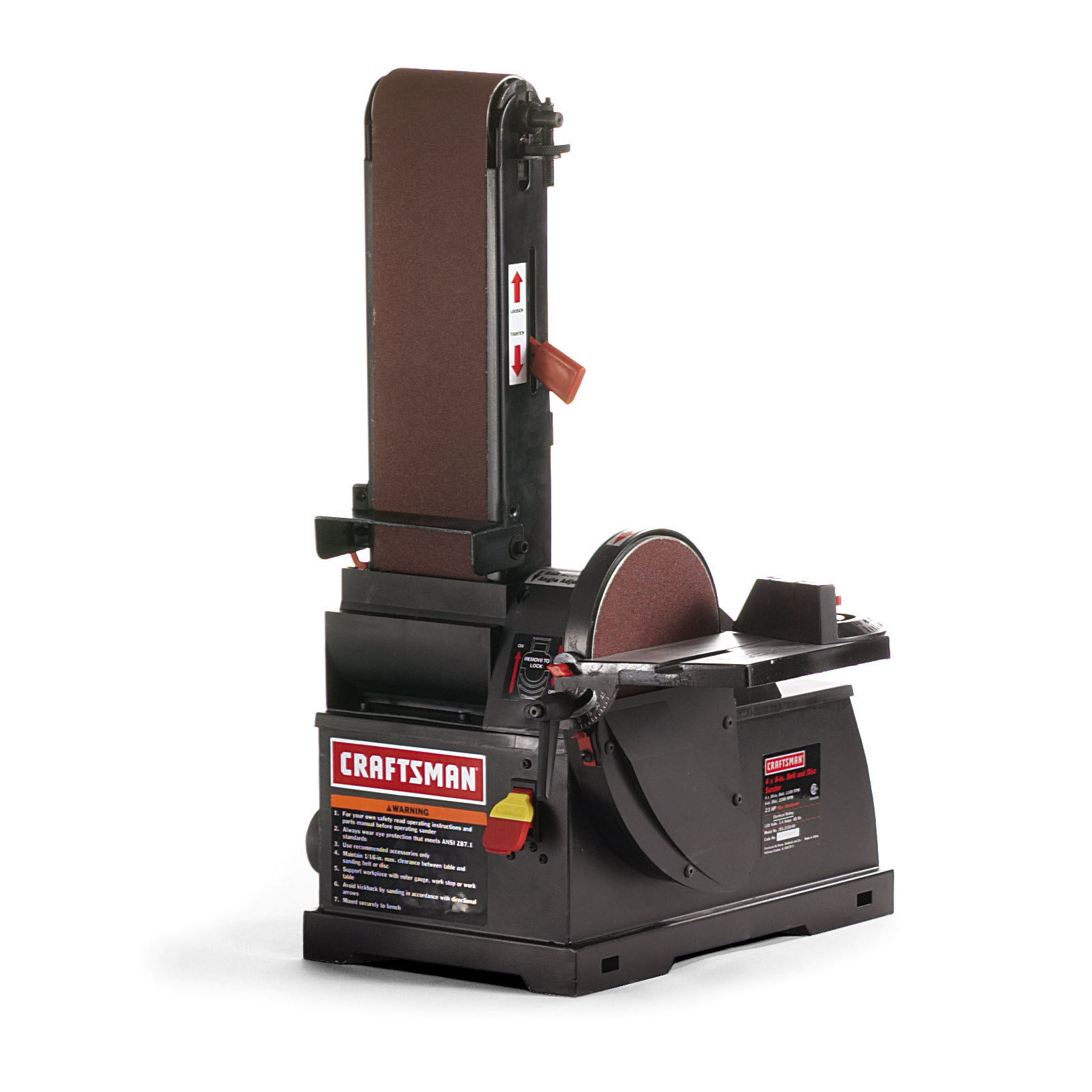 "Craftsman 1/3 hp Bench Top 4"" x 36"" Belt/6"" Disc Sander (21514)"