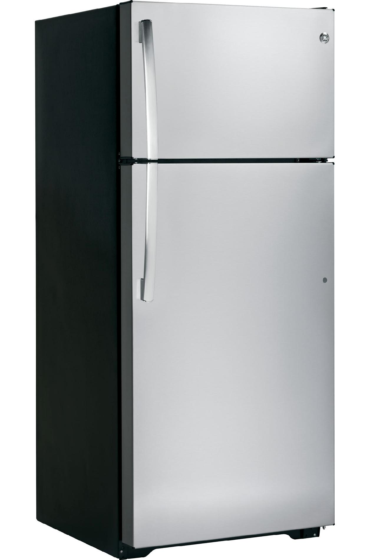GE 18.1 cu. ft. Top-Freezer Refrigerator w/ Ice Maker - Stainless Steel