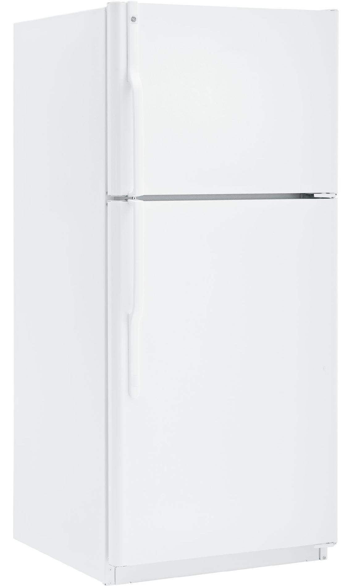 GE 18 cu. ft. Top-Freezer Refrigerator  - White