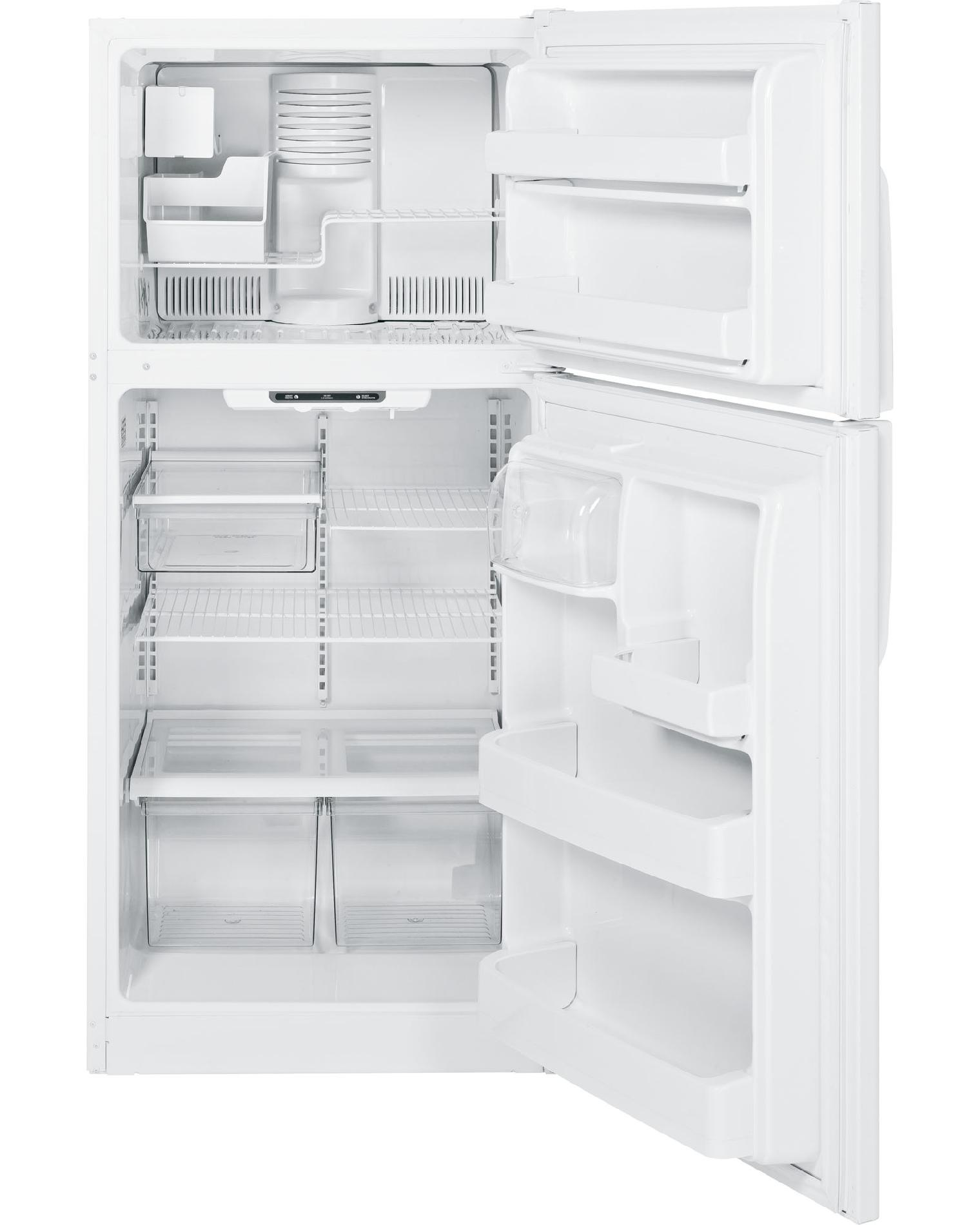 GE 18.0 cu. ft. Top-Freezer Refrigerator  w/ Ice Maker - White