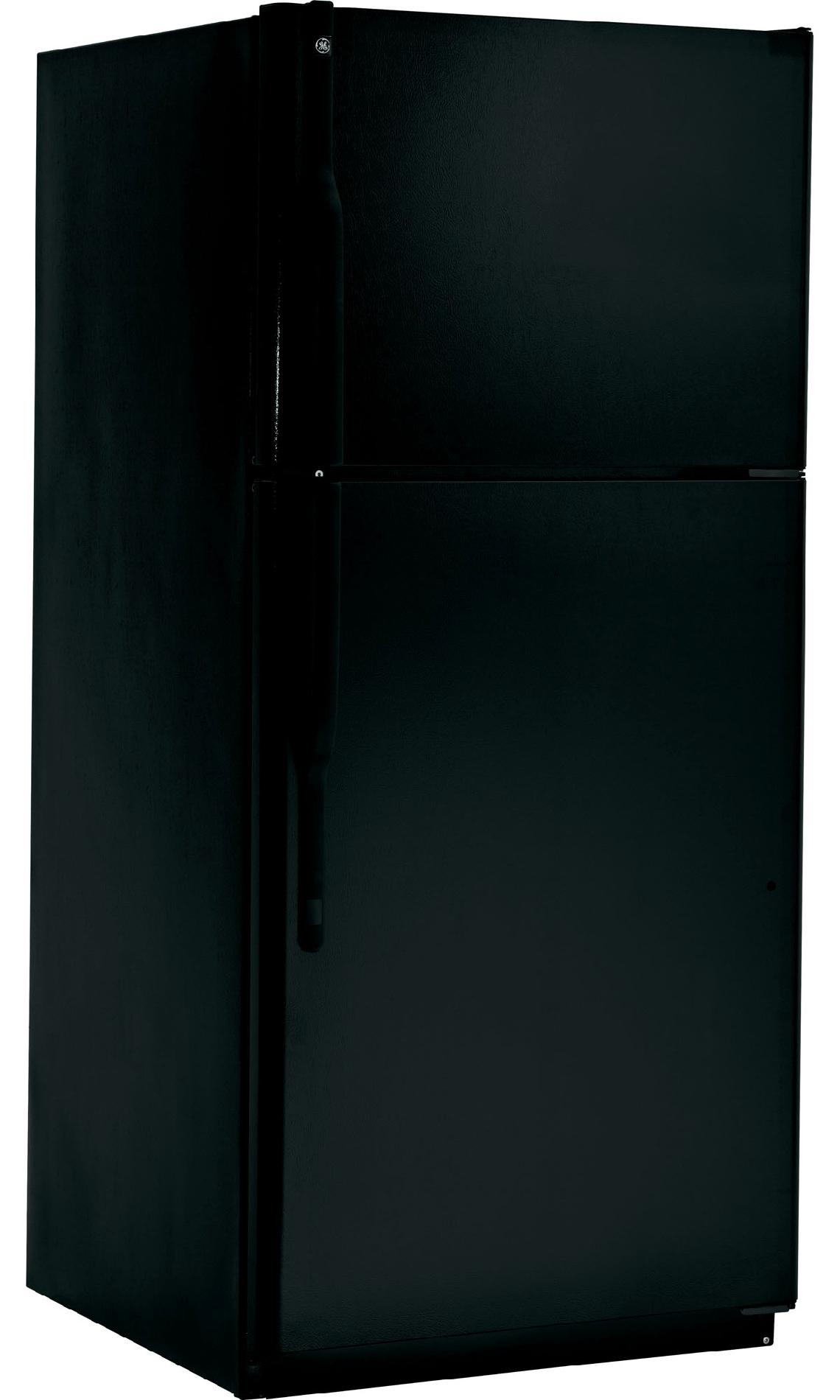 GE 18.0 cu. ft. Top-Freezer Refrigerator w/ Ice Maker - Black