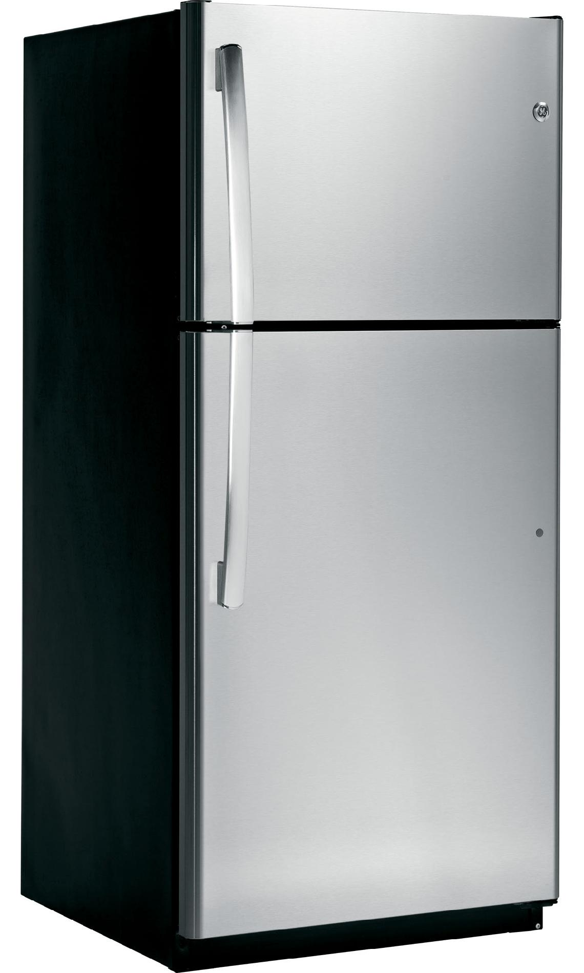 GE 18.0 cu. ft. Top-Freezer Refrigerator  - Stainless Steel