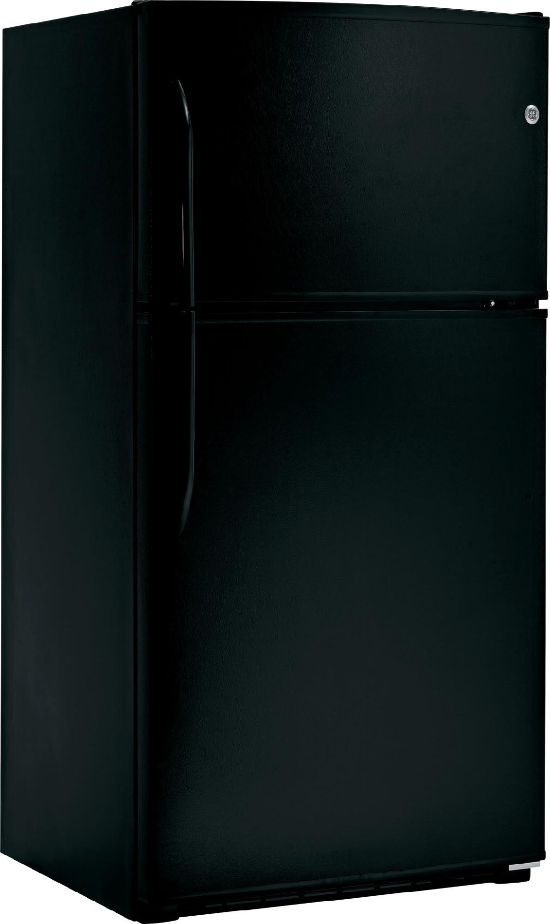 GE 21.0 cu. ft. Top-Freezer Refrigerator - Black