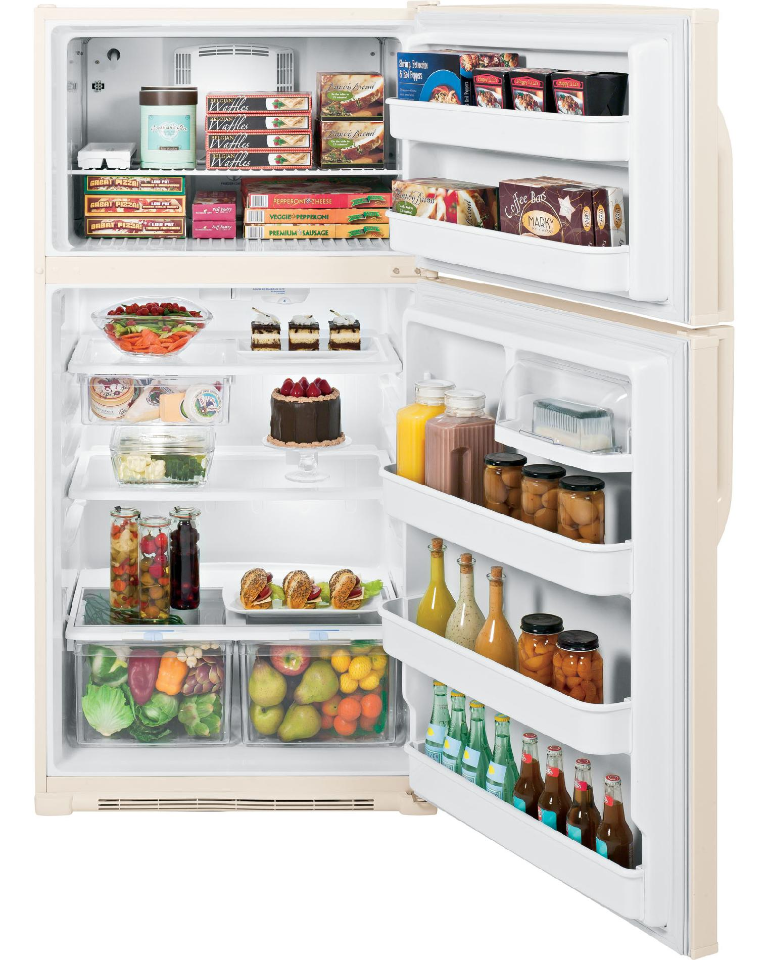 GE 21.0 cu. ft. Top-Freezer Refrigerator - Bisque