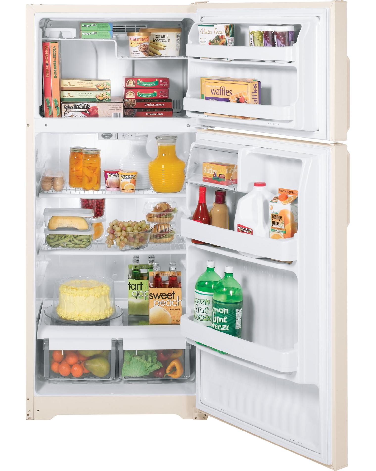 GE 15.7 cu. ft. Top-Freezer Refrigerator - Bisque