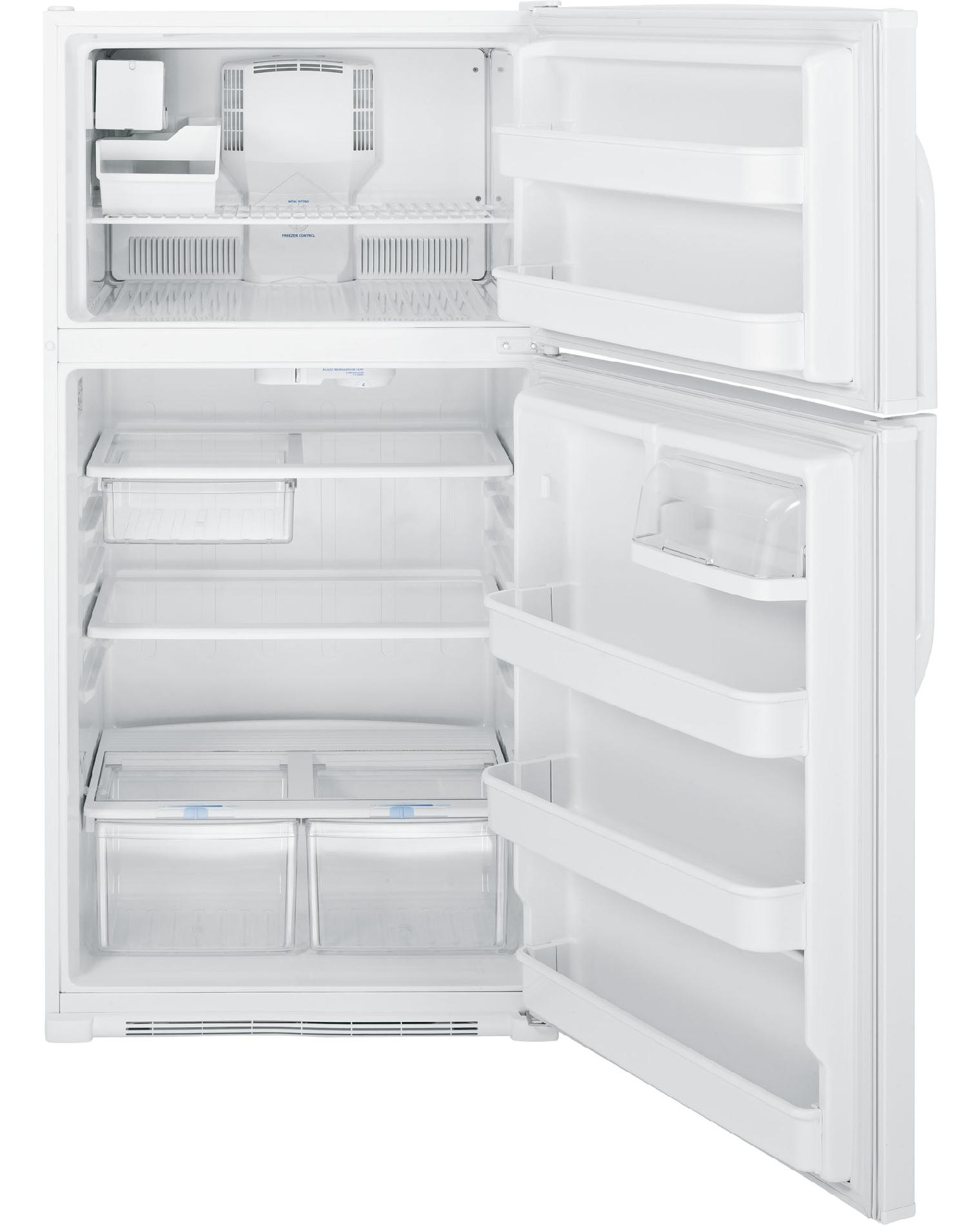 GE 21.0 cu. ft. Top-Freezer Refrigerator - White