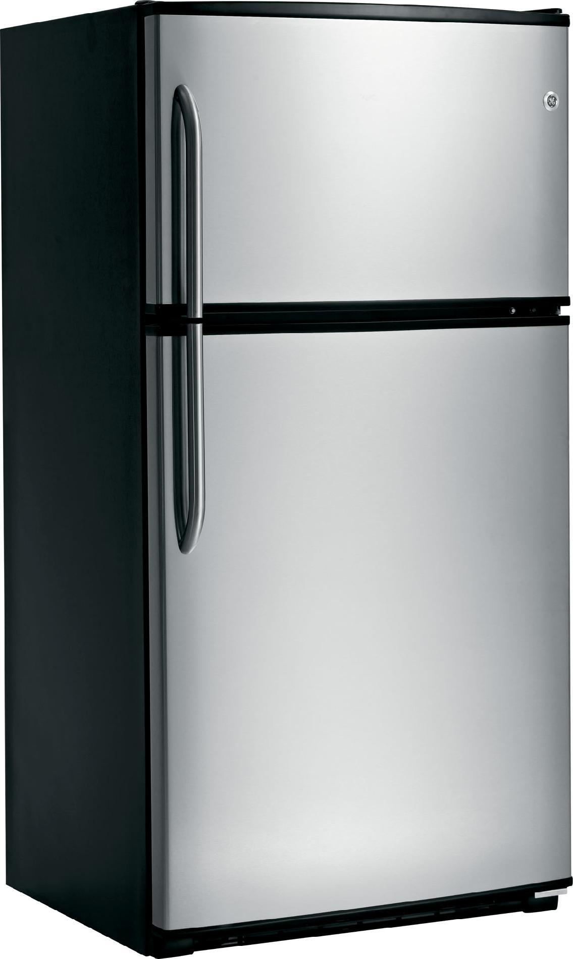 GE 21.0 cu. ft. Top-Freezer Refrigerator - Stainless Steel