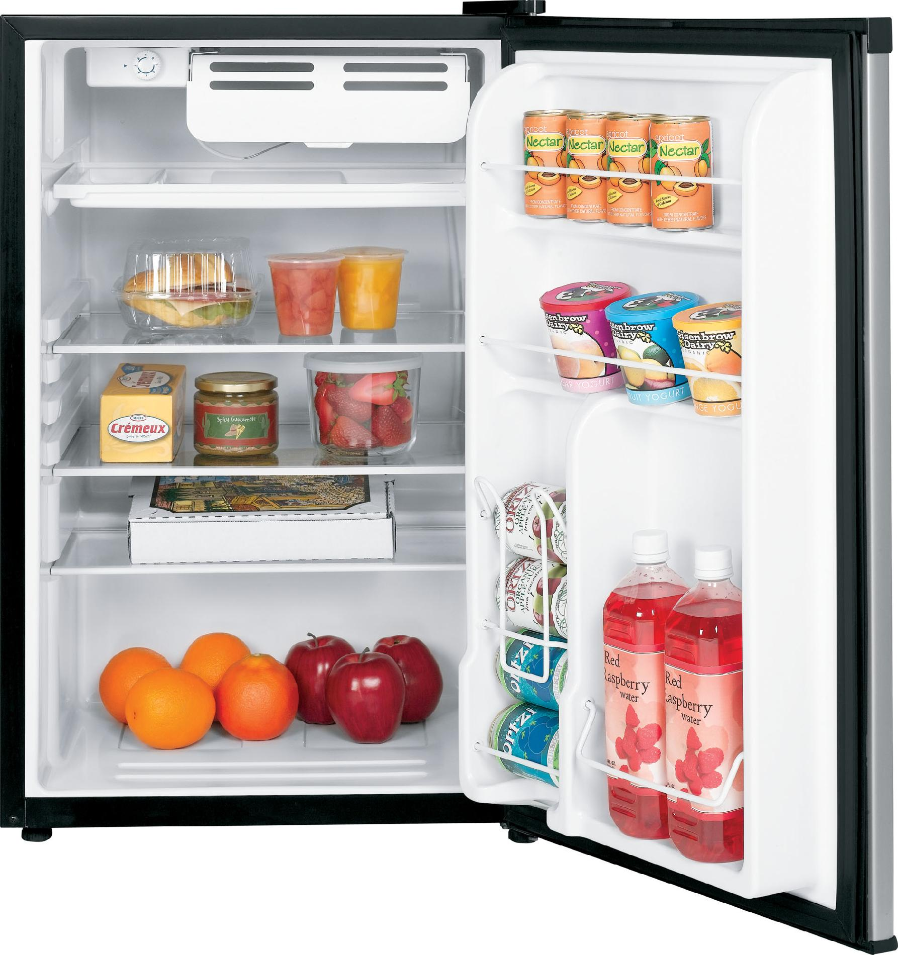 GE 4.4 cu. ft. Compact Refrigerator - Metallic