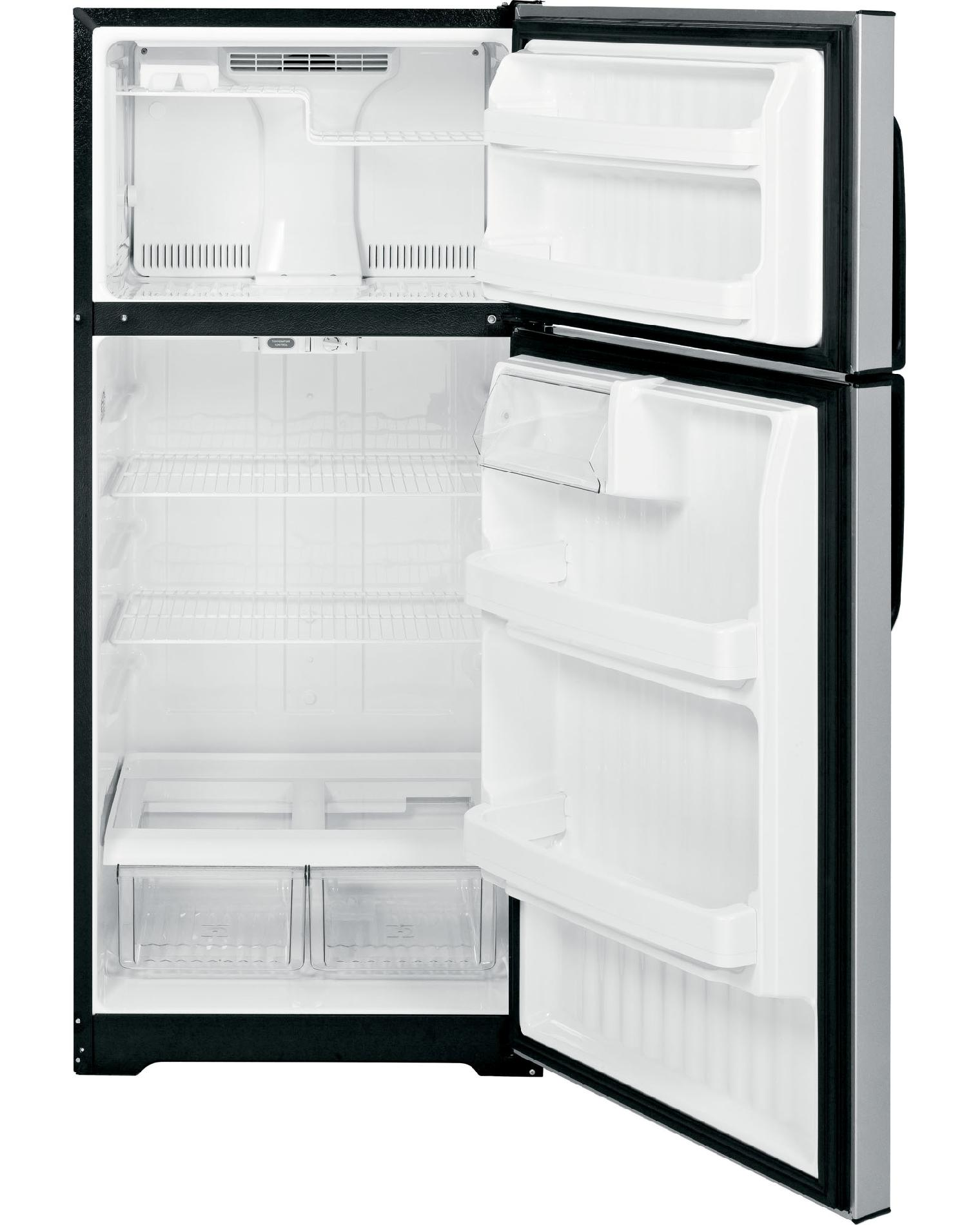 GE 16.6 cu. ft. Top-Freezer Refrigerator - Silver Metallic