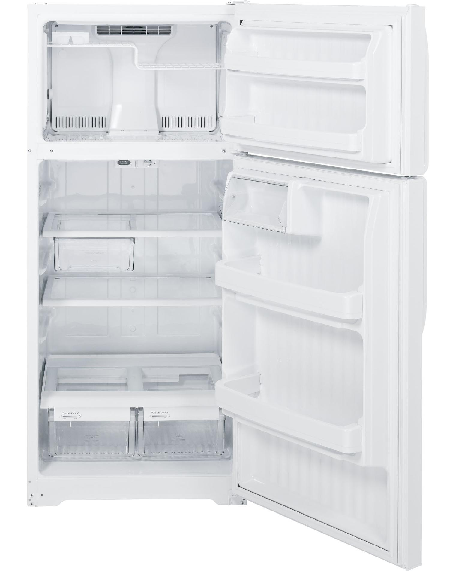 GE 16.5 cu. ft. Top-Freezer Refrigerator - White